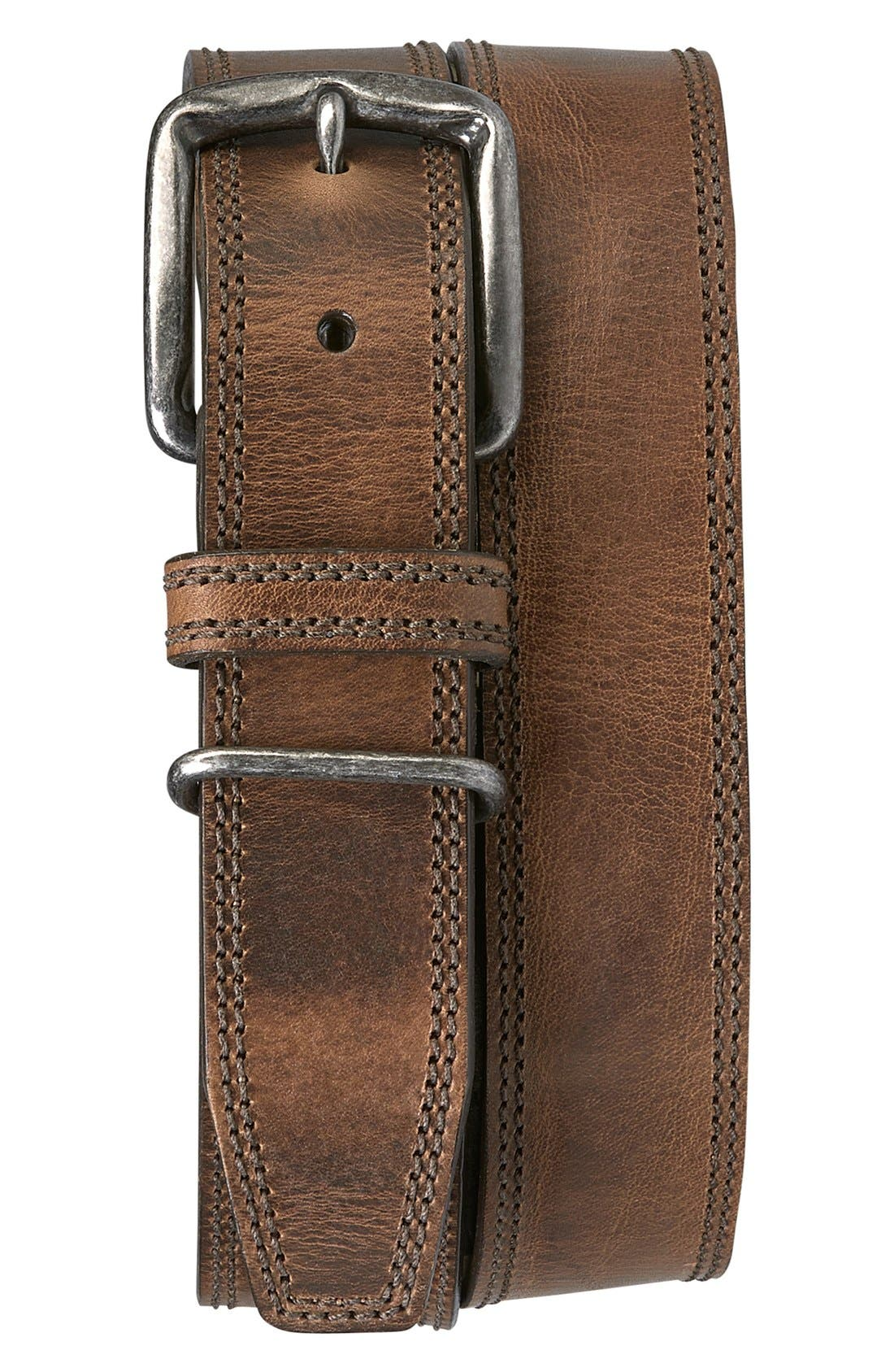 'Summit' American Steer Leather Belt,                         Main,                         color, TAN STEER