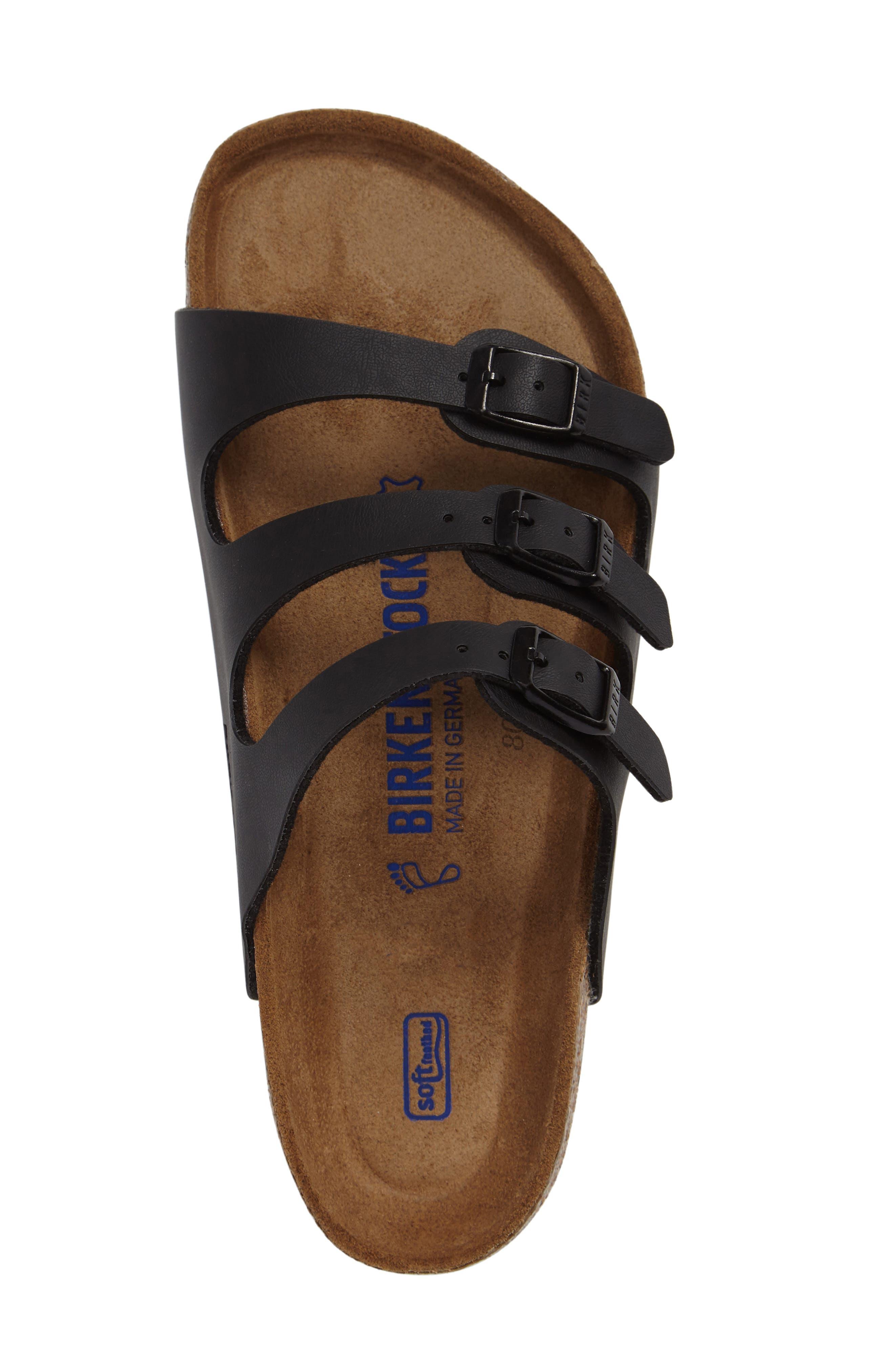 Florida Soft Footbed Slide Sandal,                             Alternate thumbnail 3, color,                             BLACK
