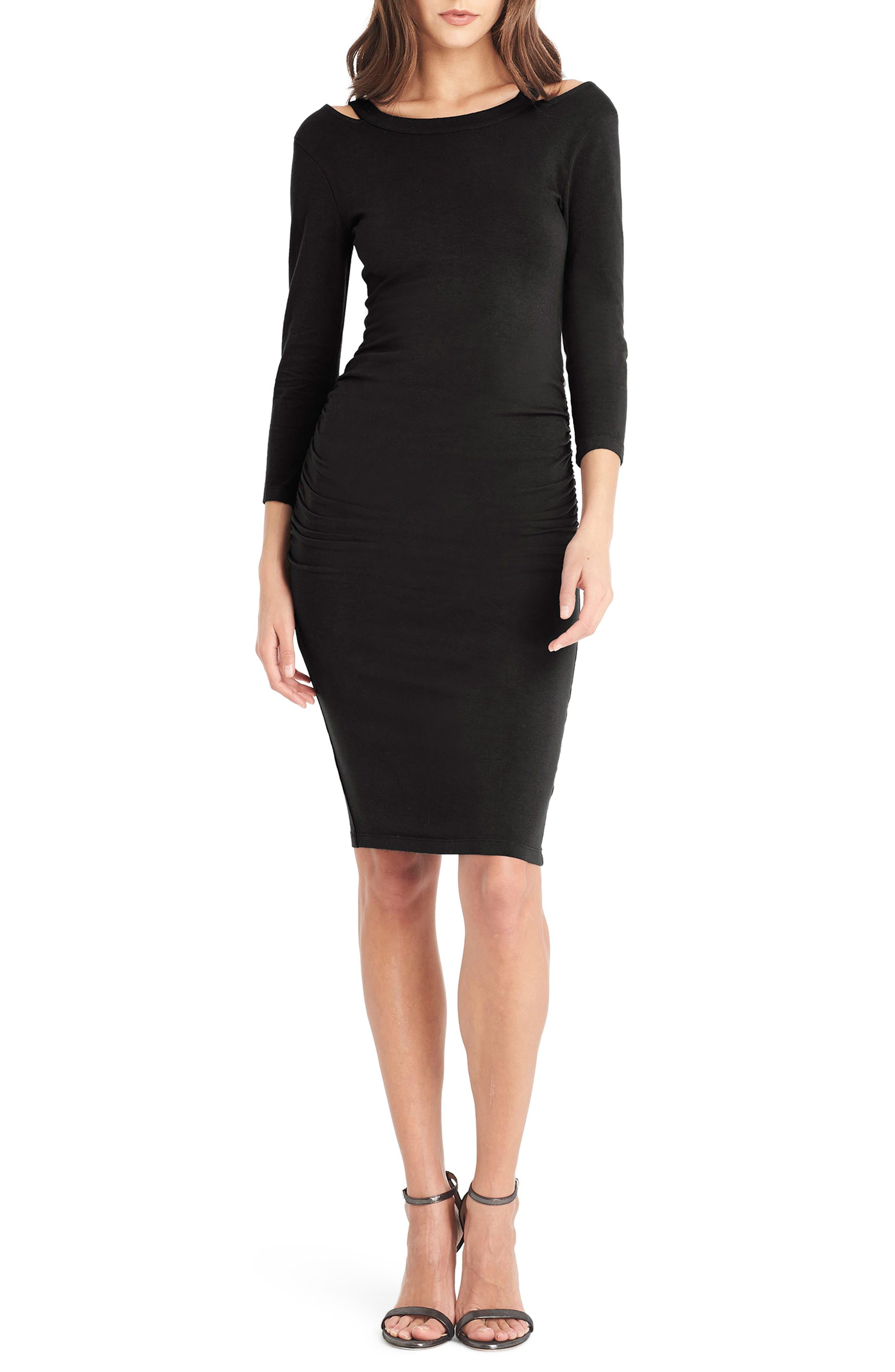 Strap Back Body-Con Dress,                         Main,                         color, 001