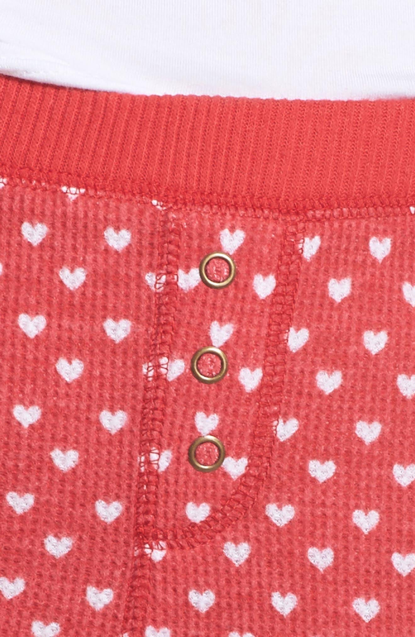 Thermal Leggings,                             Alternate thumbnail 4, color,                             RED LIPSTICK HEART