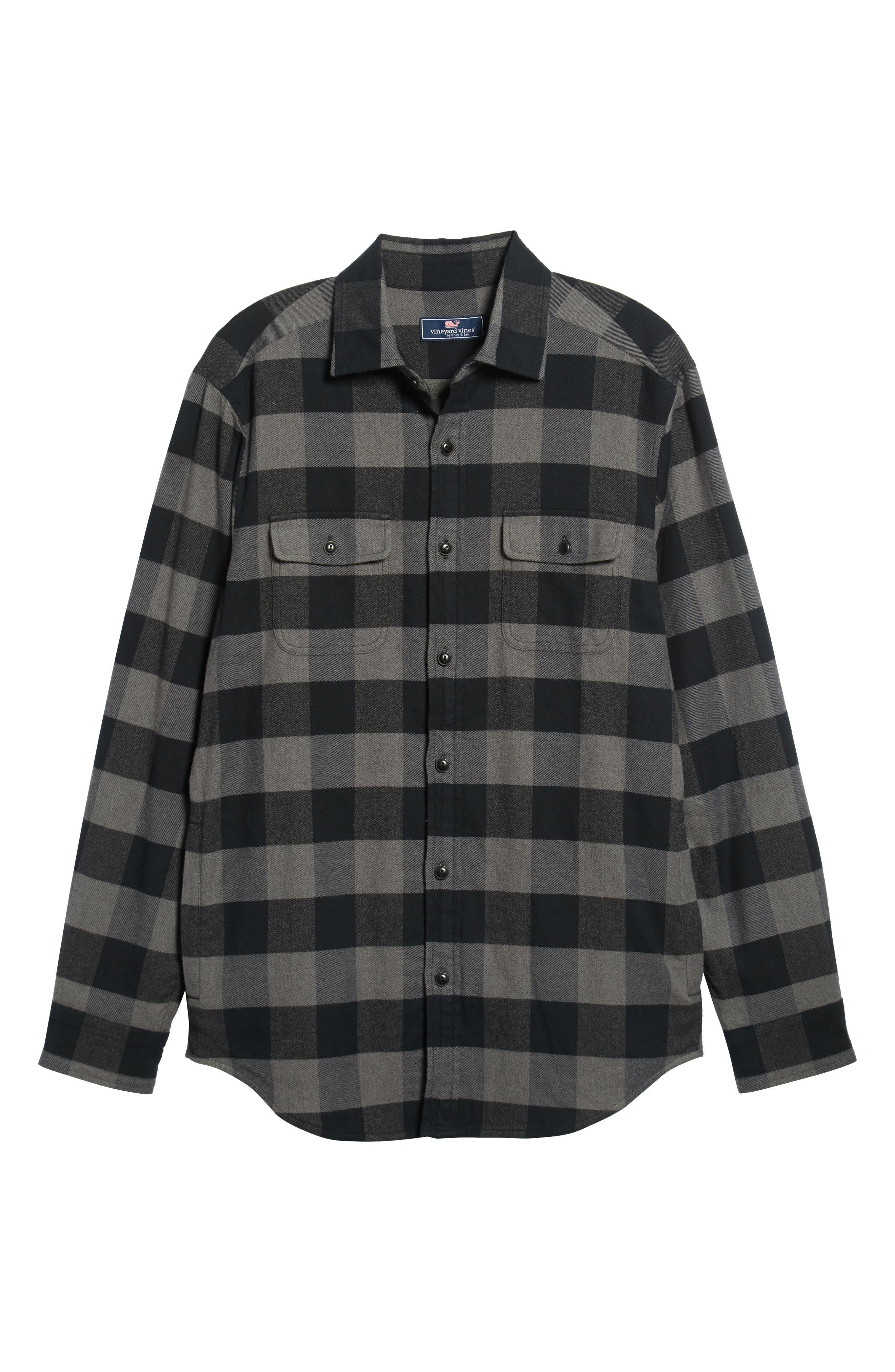 Deepwood Regular Fit Lined Flannel Shirt Jacket,                             Alternate thumbnail 5, color,                             EVENING SKY
