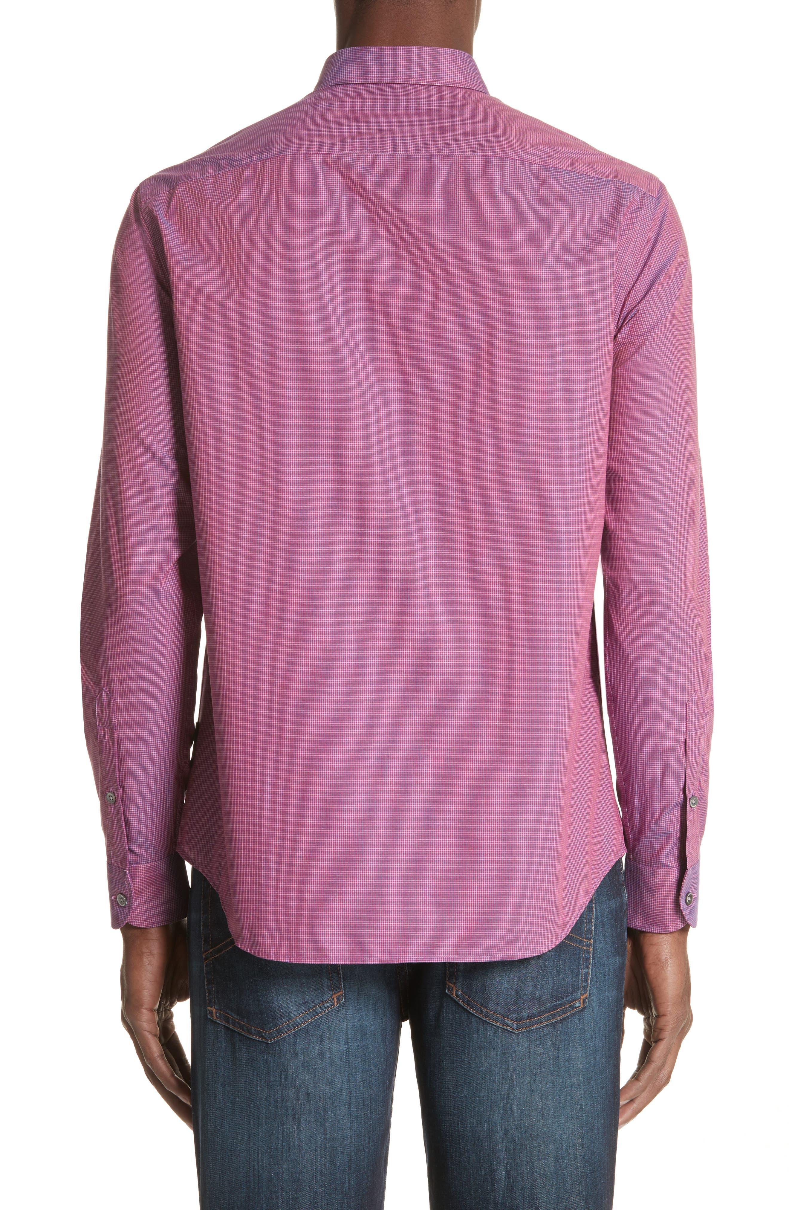 Microcheck Classic Fit Sport Shirt,                             Alternate thumbnail 2, color,                             600