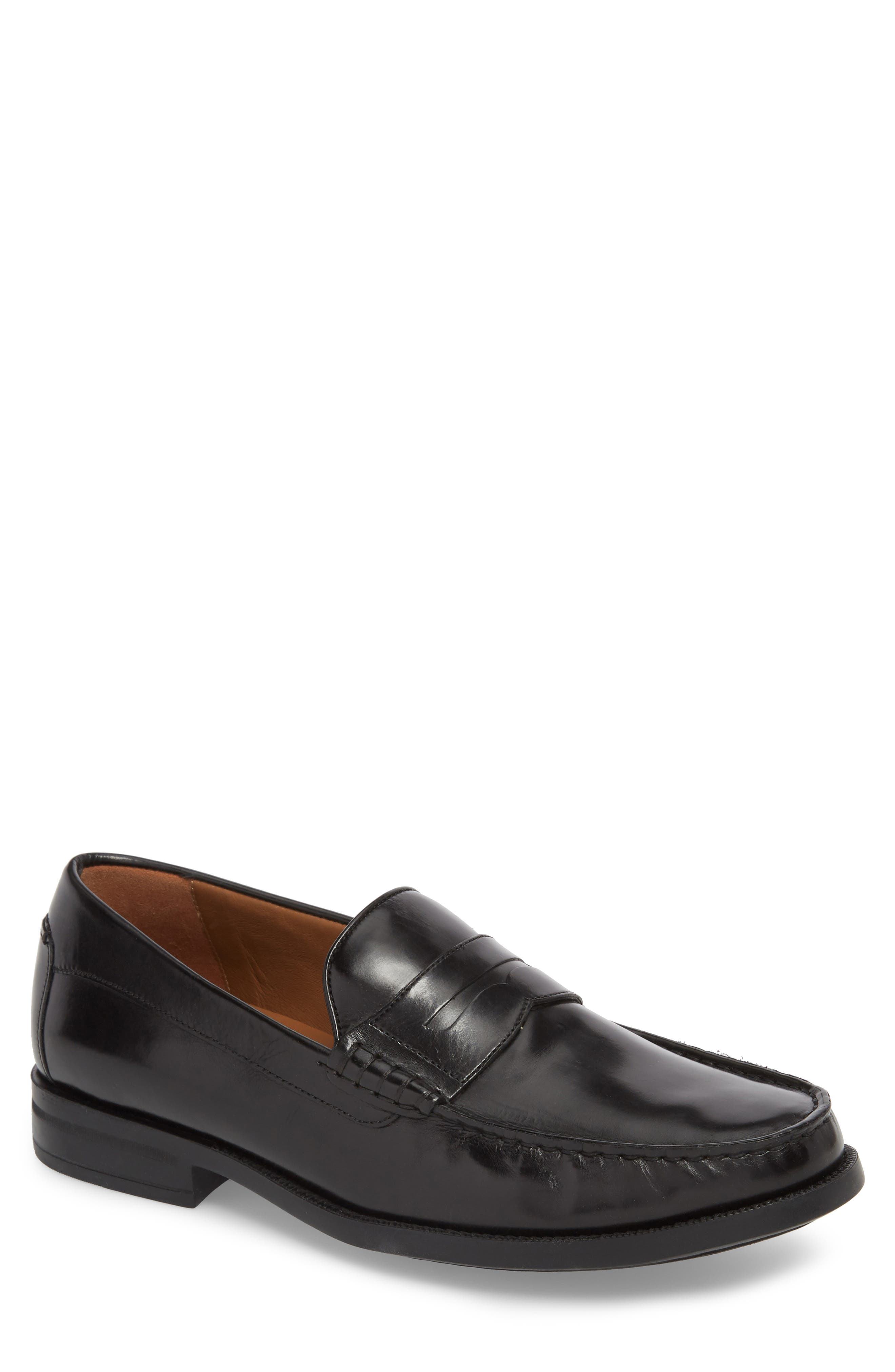 Chadwell Penny Loafer,                         Main,                         color, BLACK LEATHER