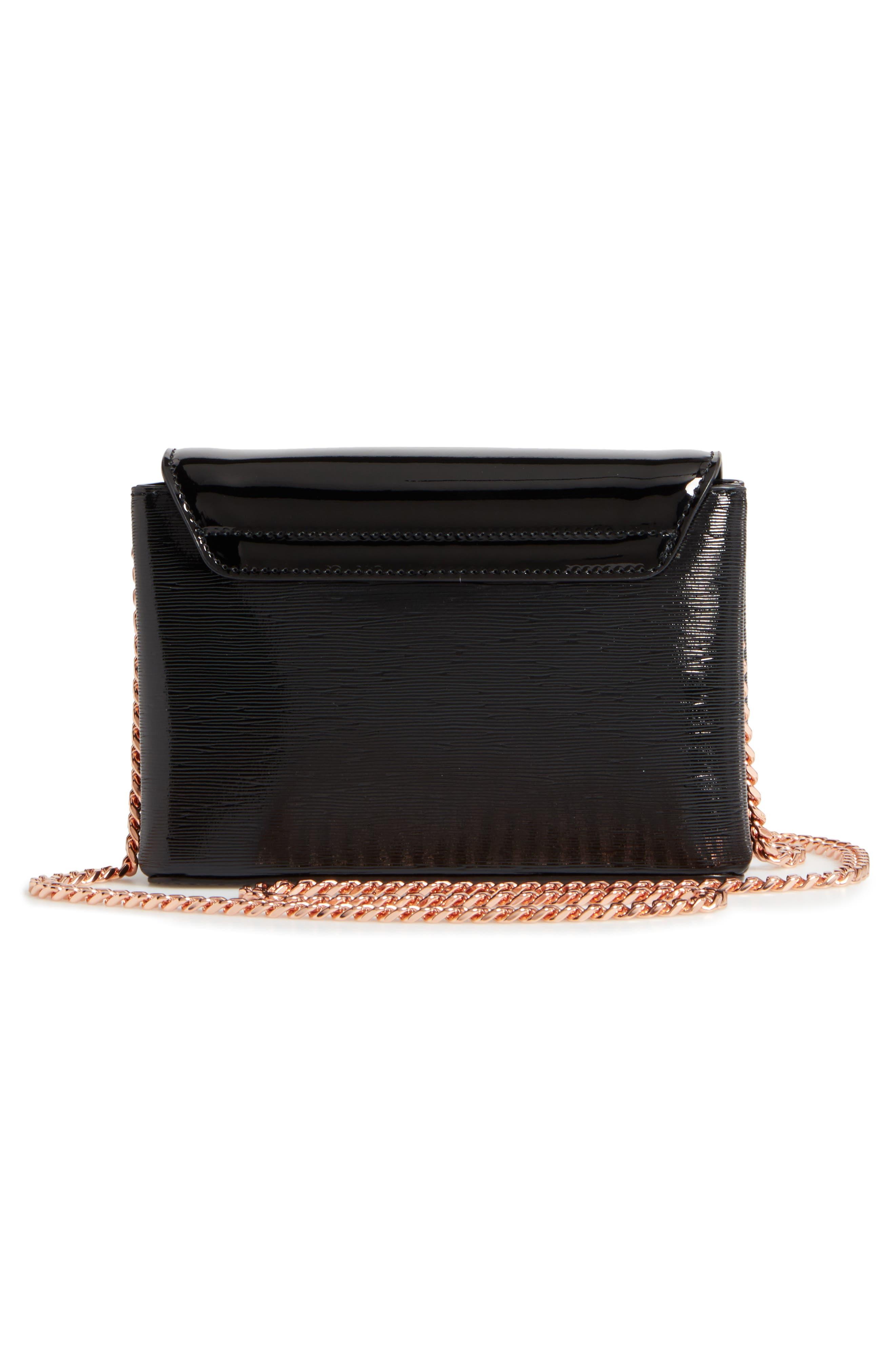 Loopa Bow Mini Leather Crossbody Bag,                             Alternate thumbnail 5, color,