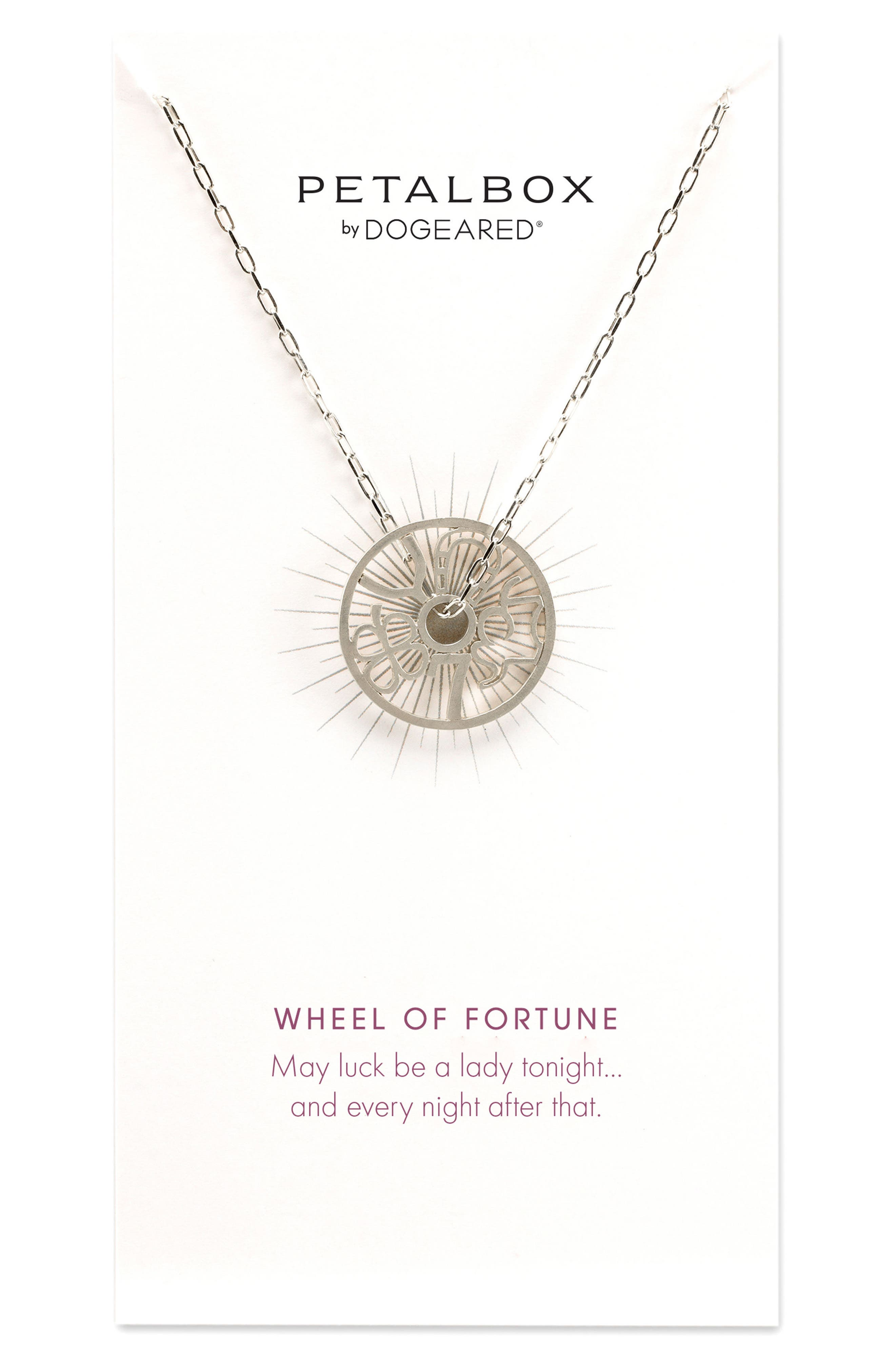 Petalbox Wheel of Fortune Pendant Necklace,                             Main thumbnail 1, color,                             040