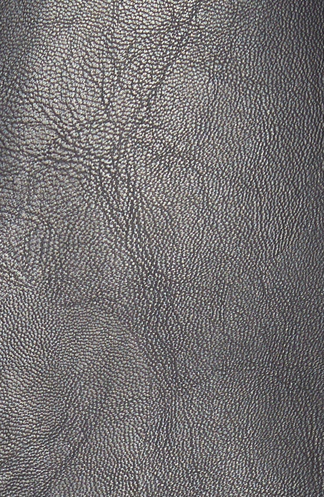 Faux Leather Midi Skirt,                             Alternate thumbnail 2, color,                             001