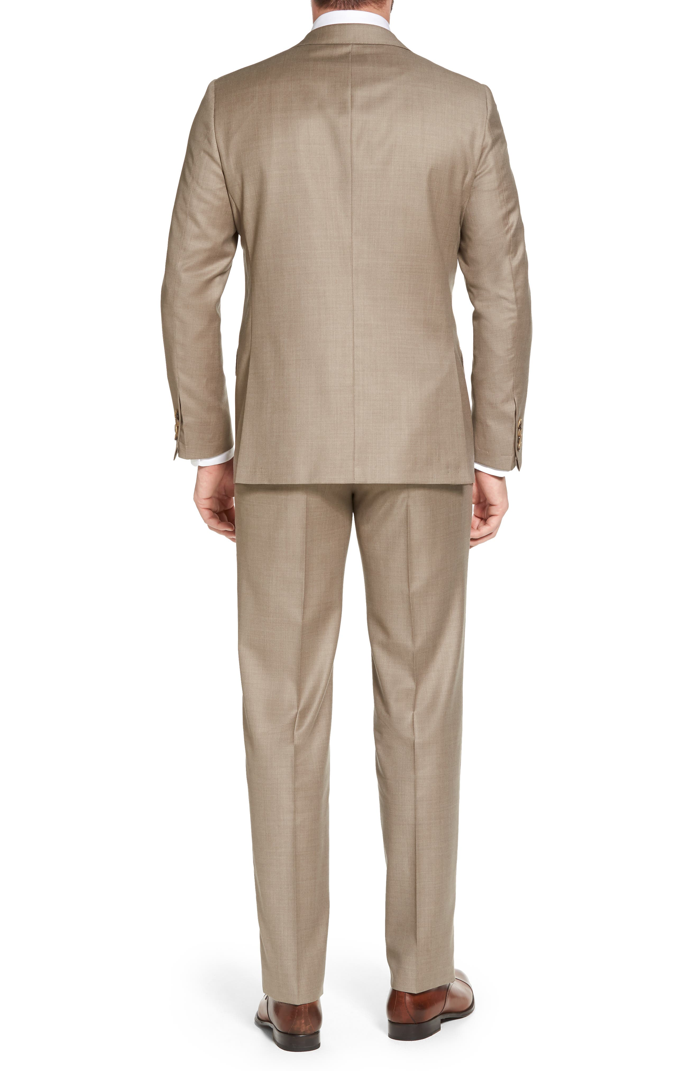 Classic B Fit Solid Wool Suit,                             Alternate thumbnail 2, color,                             250