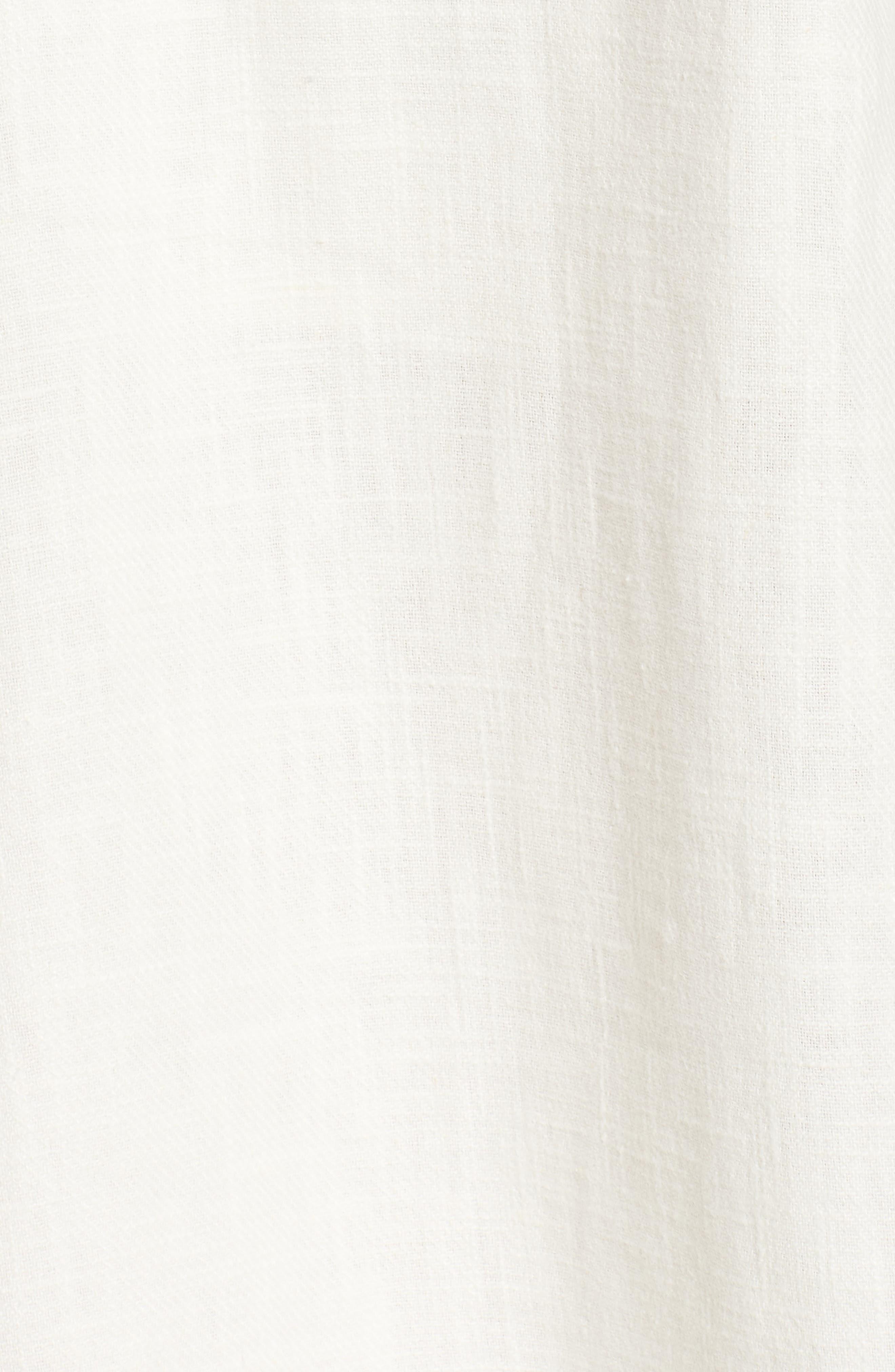 Linen & Cotton Strapless Dress,                             Alternate thumbnail 5, color,