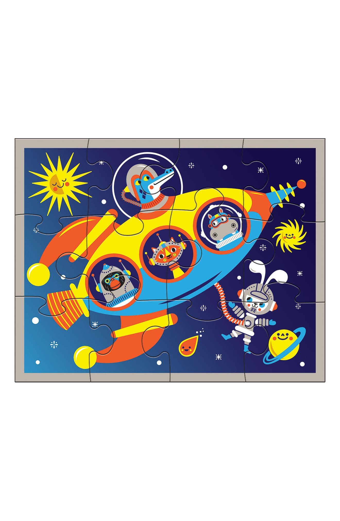 12-Piece Outer Space Pouch Puzzle,                             Alternate thumbnail 2, color,                             800