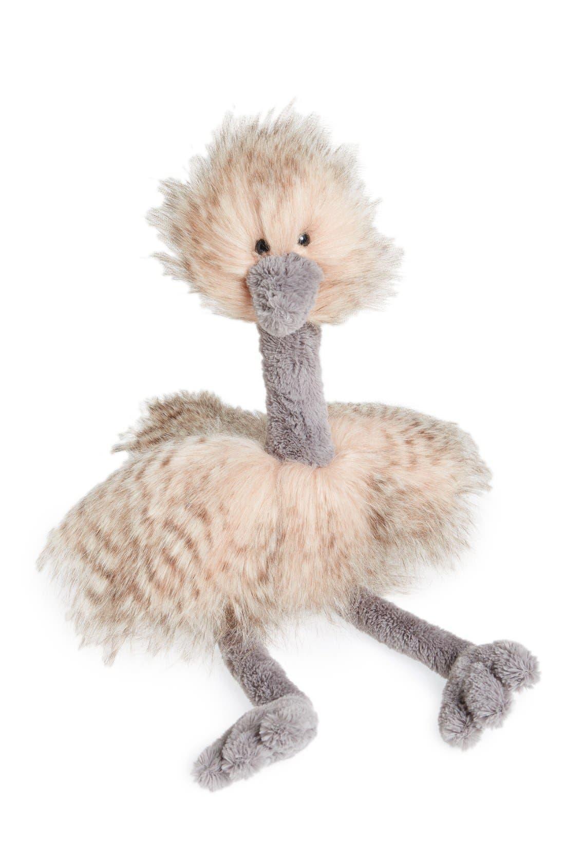 'Odette Ostrich' Stuffed Animal, Main, color, 680