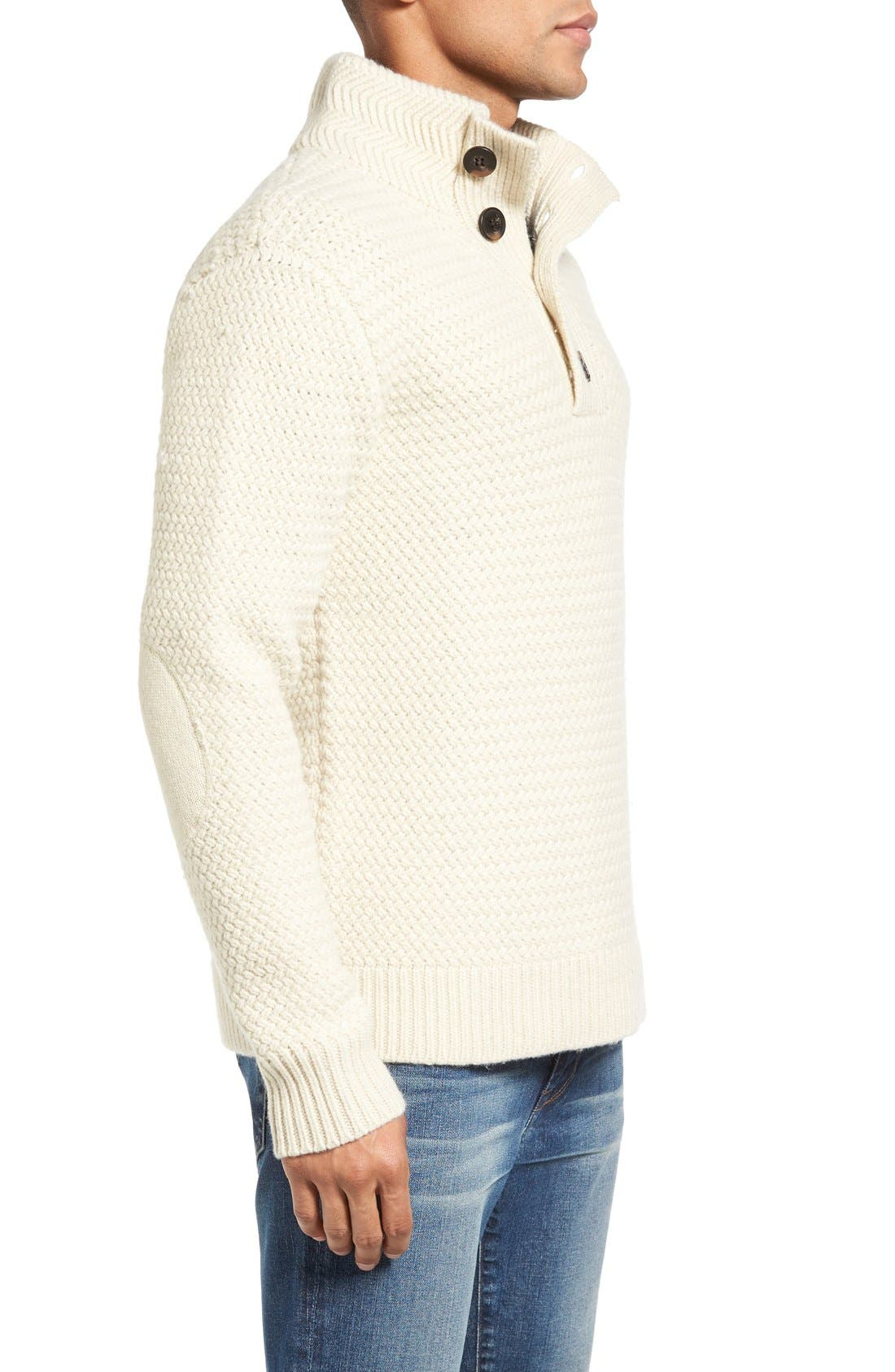 Military Henley Sweater,                             Alternate thumbnail 7, color,                             OFF WHITE