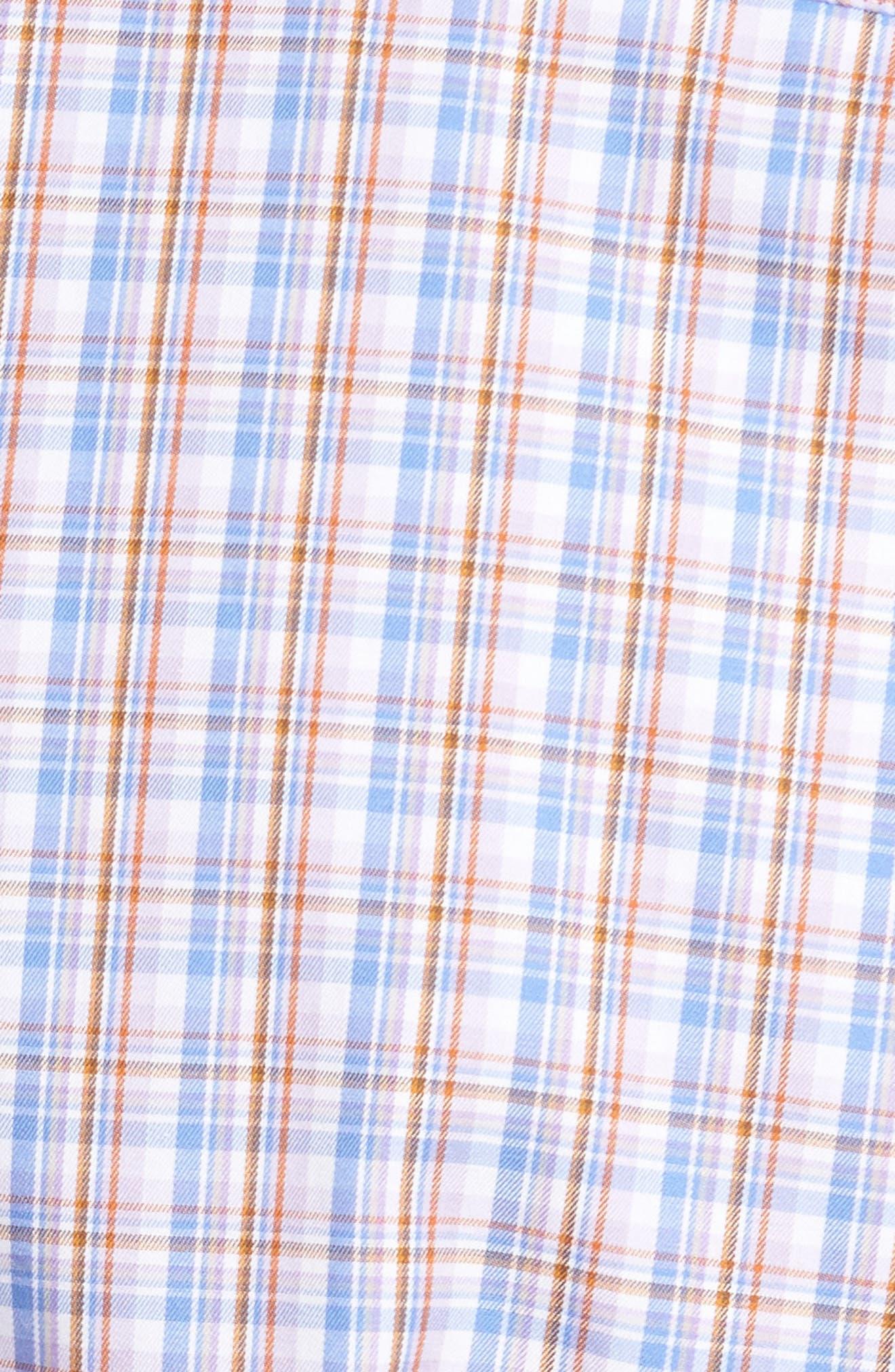 Alpine Regular Fit Plaid Sport Shirt,                             Alternate thumbnail 5, color,