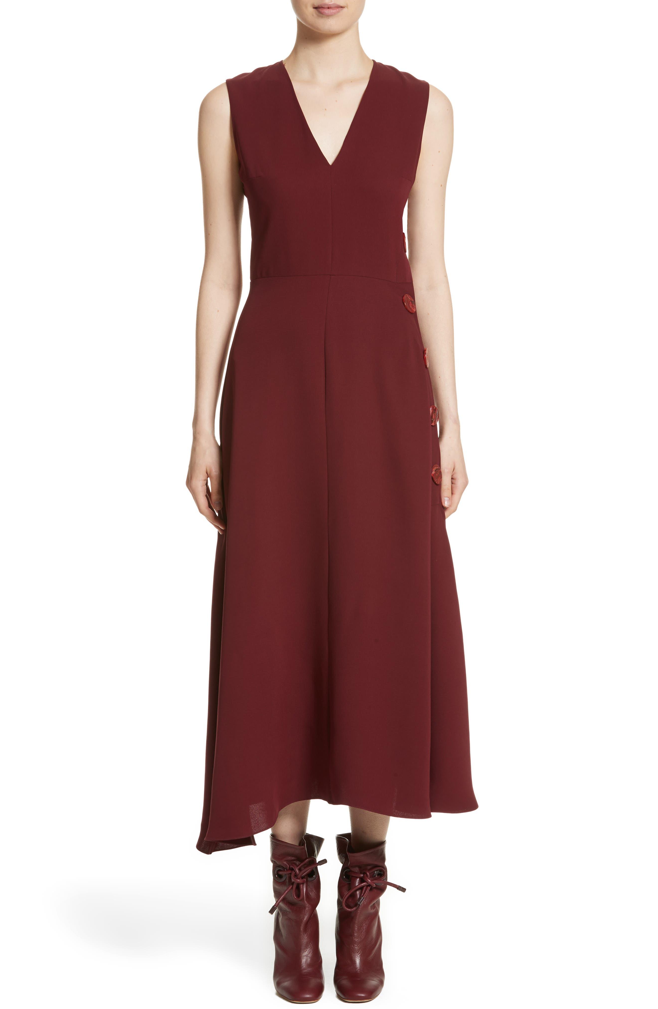 Hiroko Sleeveless Silk Dress,                         Main,                         color,