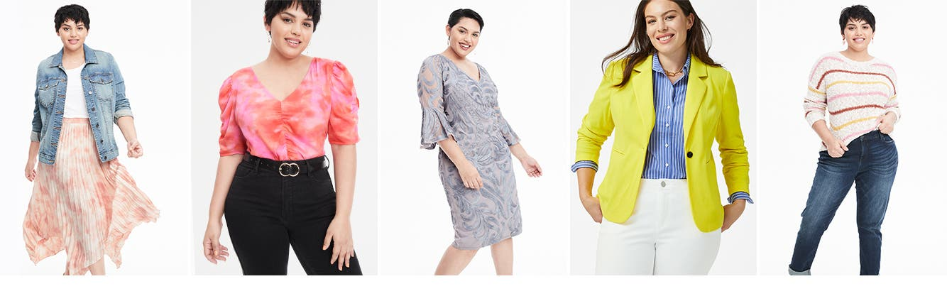 Shop plus-size clothing by category.