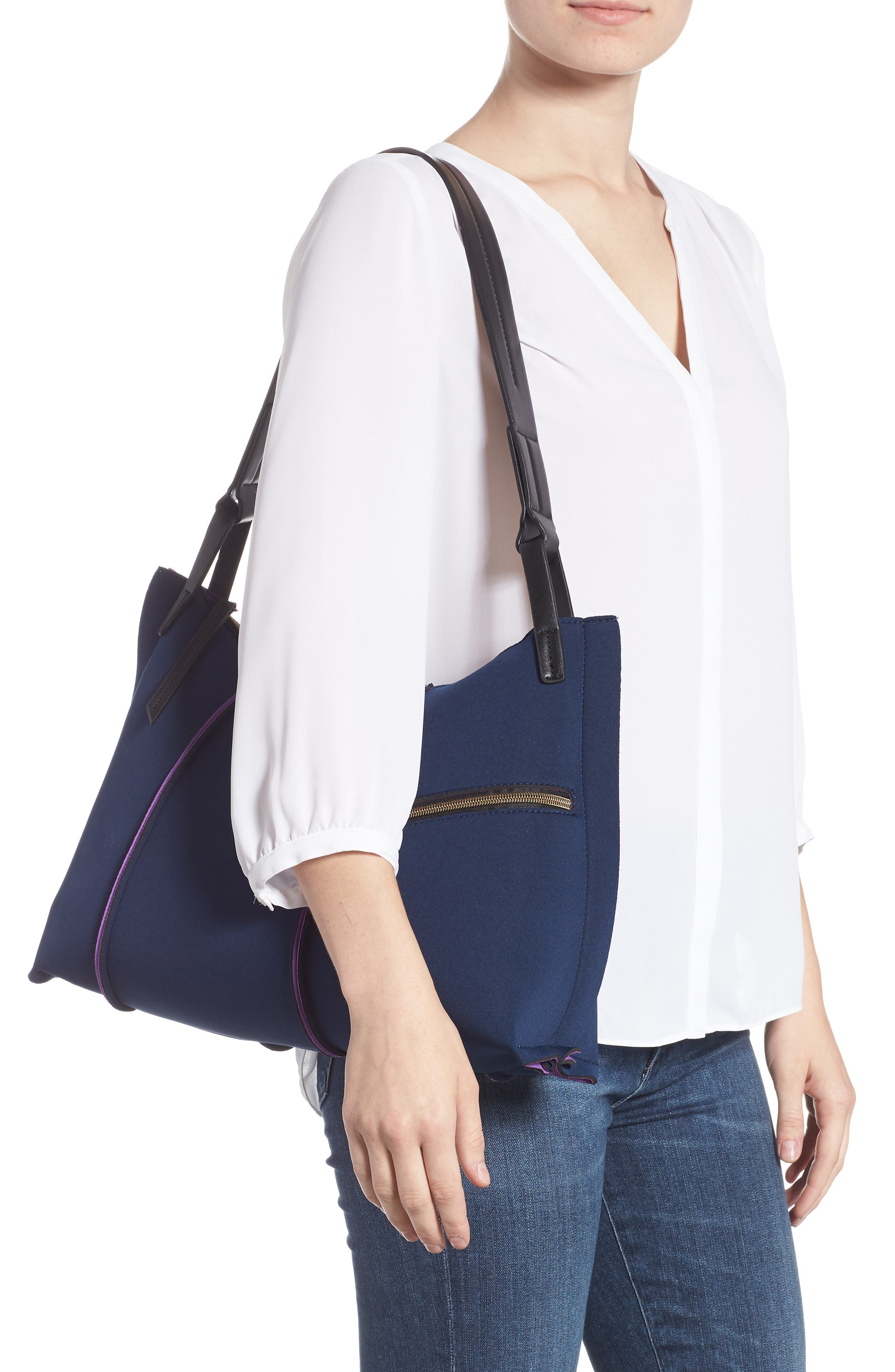 Neoprene Hobo,                             Alternate thumbnail 2, color,                             NAVY