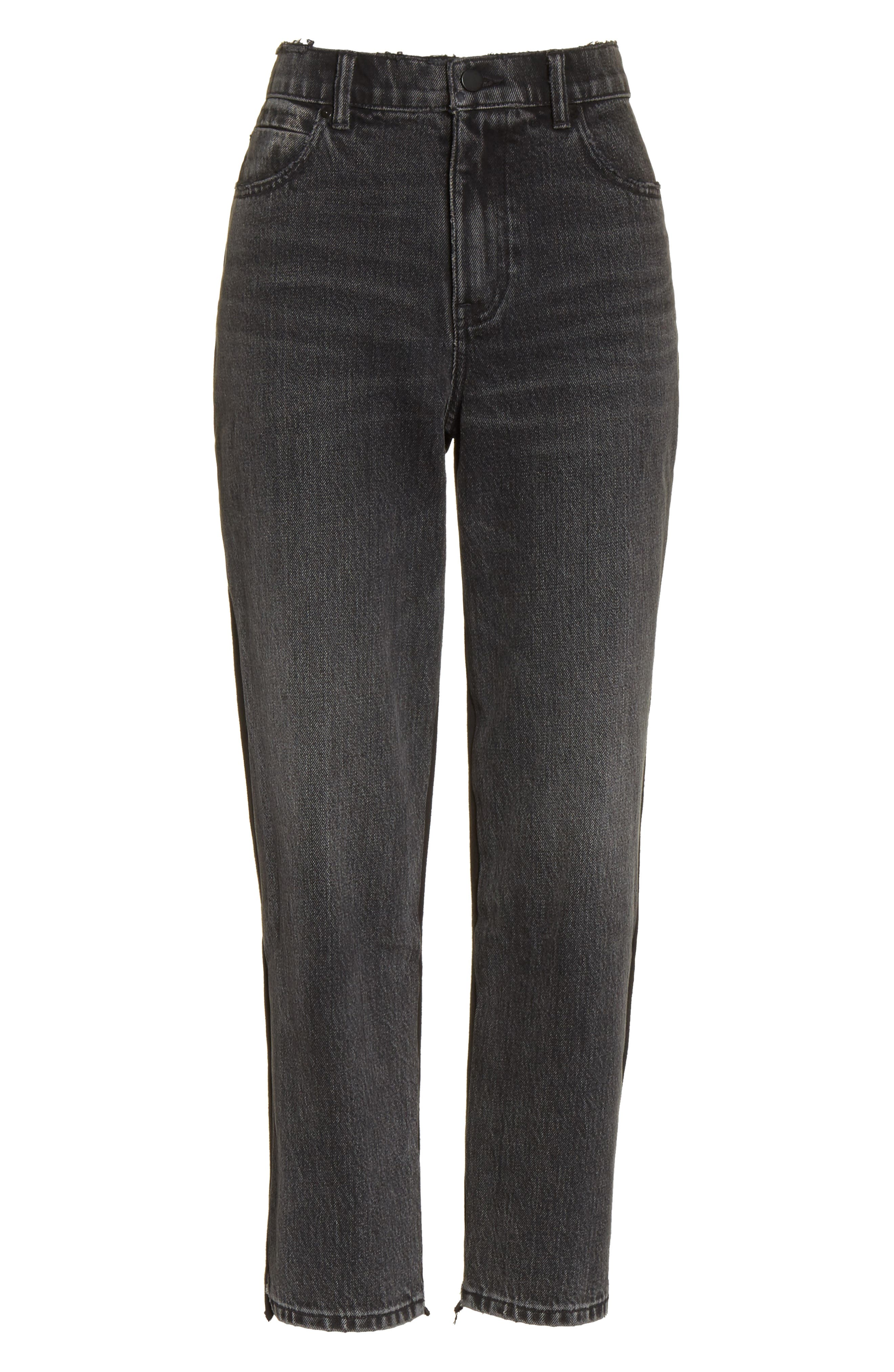 Denim x Alexander Wang Hybrid Sweatpants Jeans,                             Alternate thumbnail 6, color,                             025