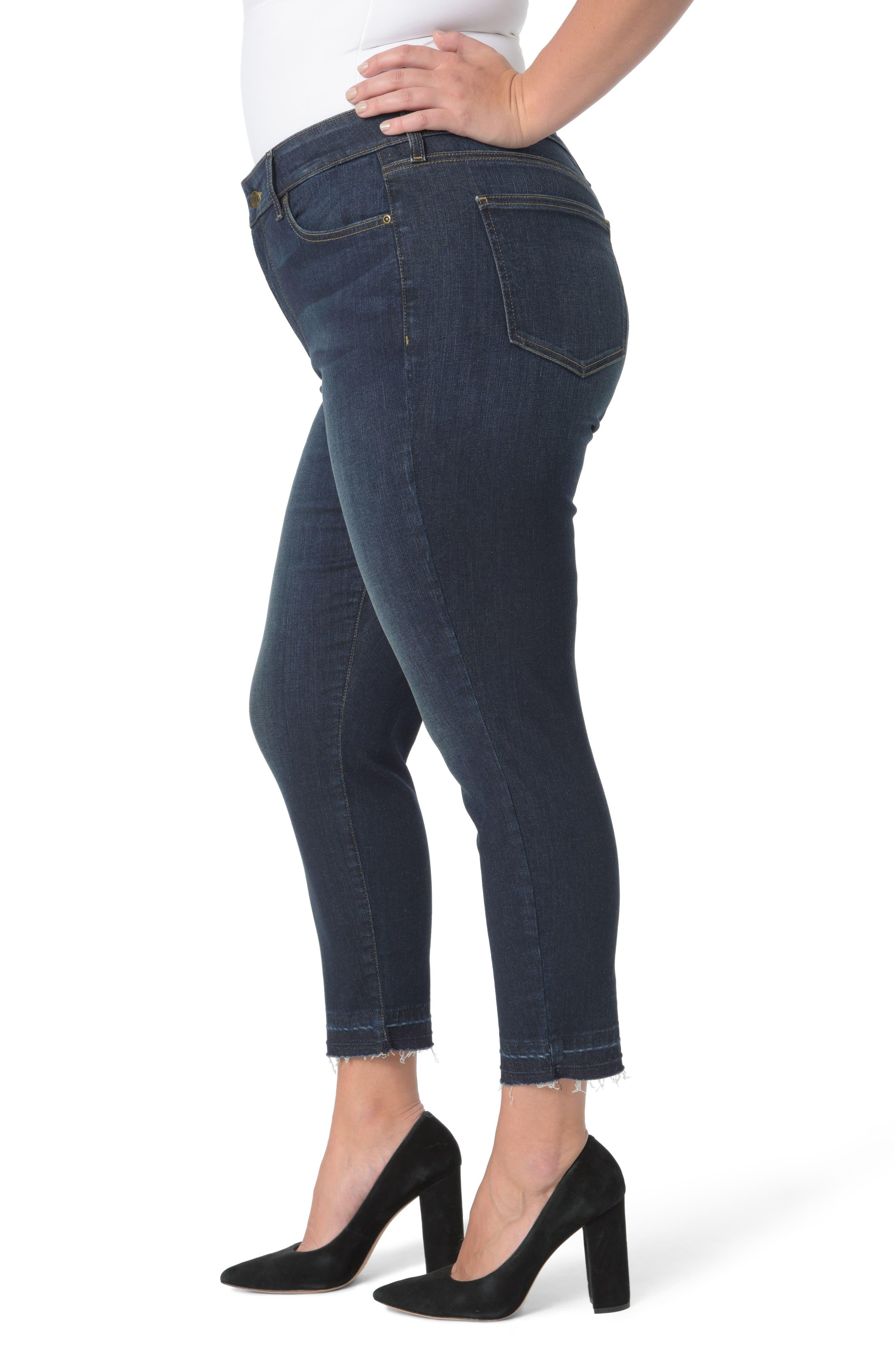 Alina Release Hem Ankle Jeans,                             Alternate thumbnail 3, color,                             421