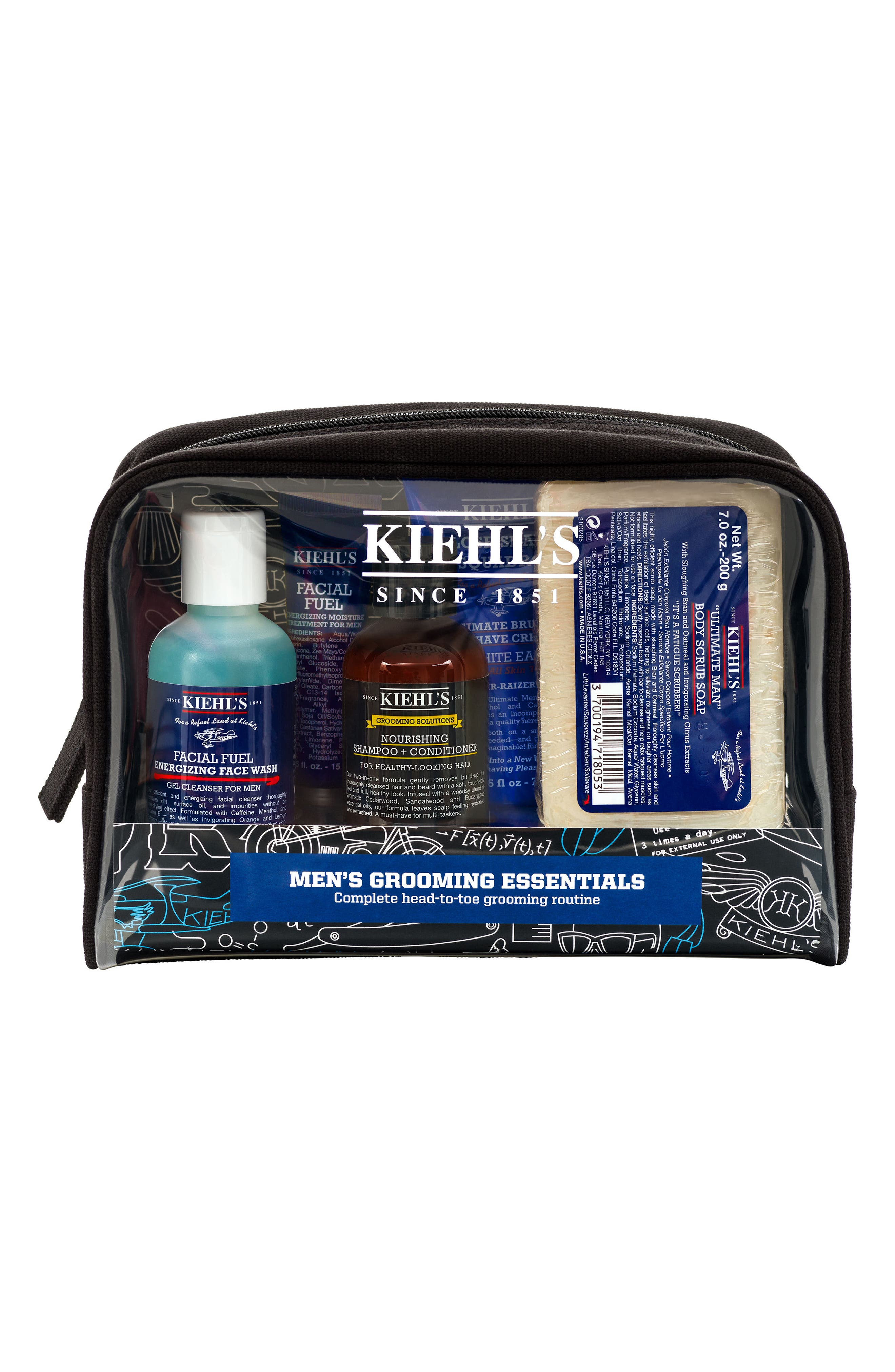 Men's Grooming Essentials Set,                             Alternate thumbnail 2, color,                             000