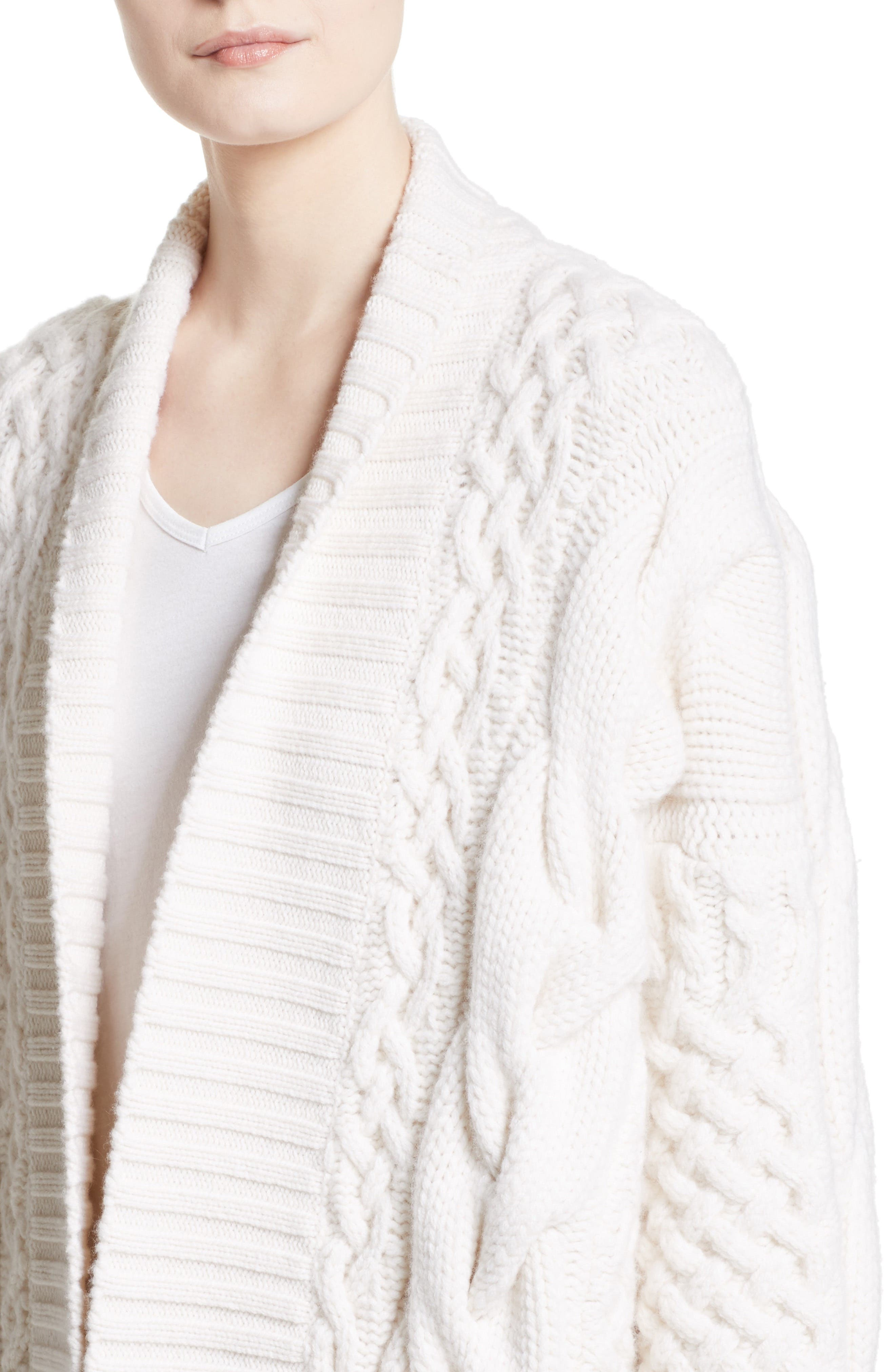 Camrosbrook Wool & Cashmere Open Cardigan,                             Alternate thumbnail 4, color,                             900