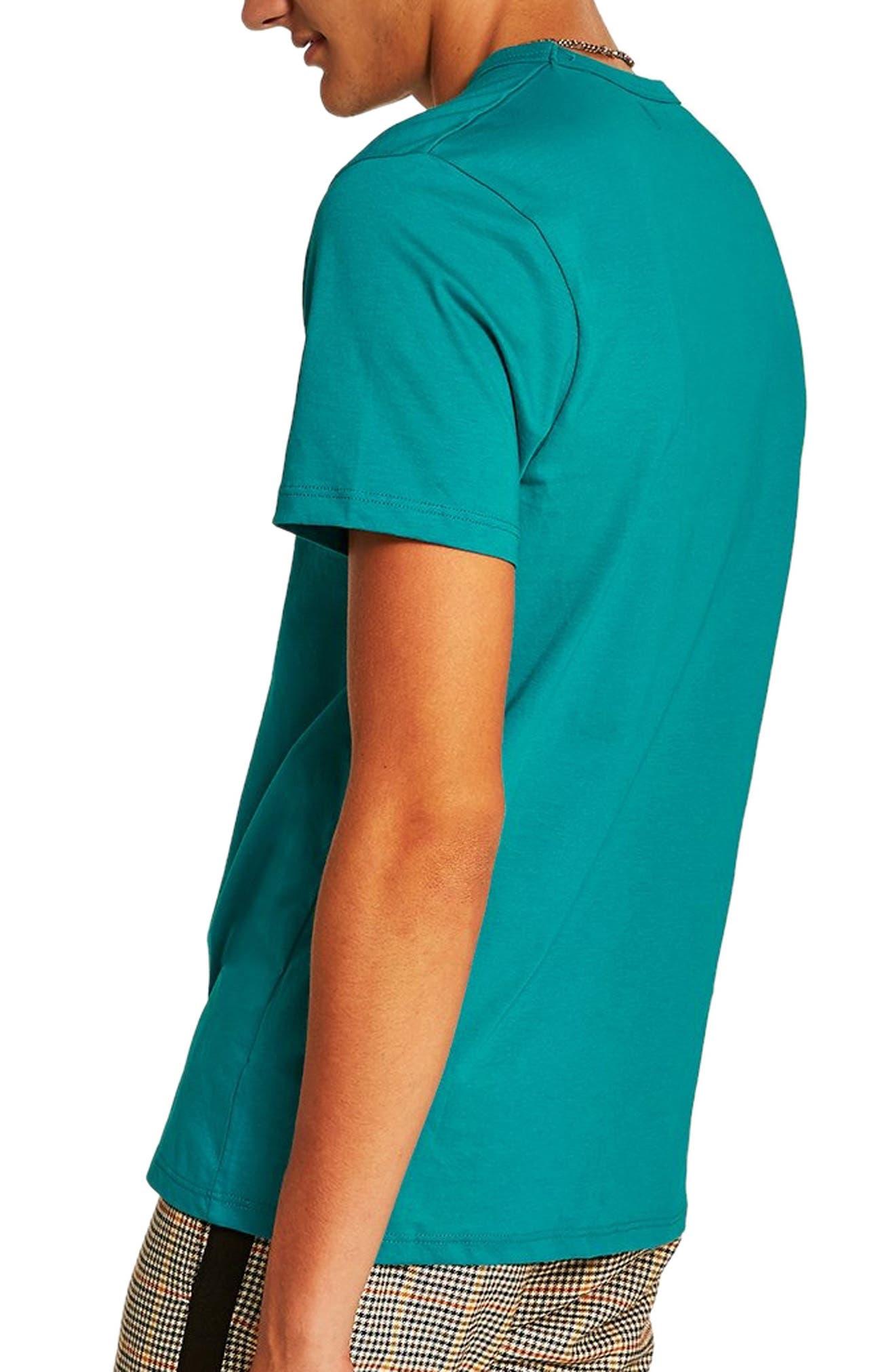 Classic Fit T-Shirt,                             Alternate thumbnail 2, color,                             AQUA
