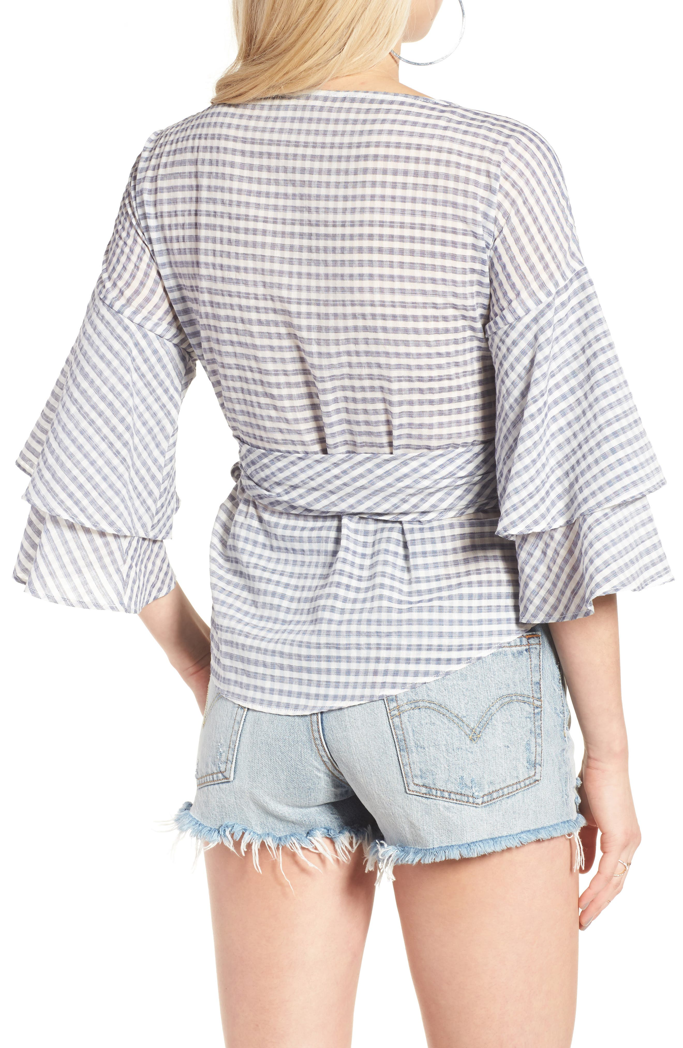 Beckett Tiered Bell Sleeve Top,                             Alternate thumbnail 14, color,