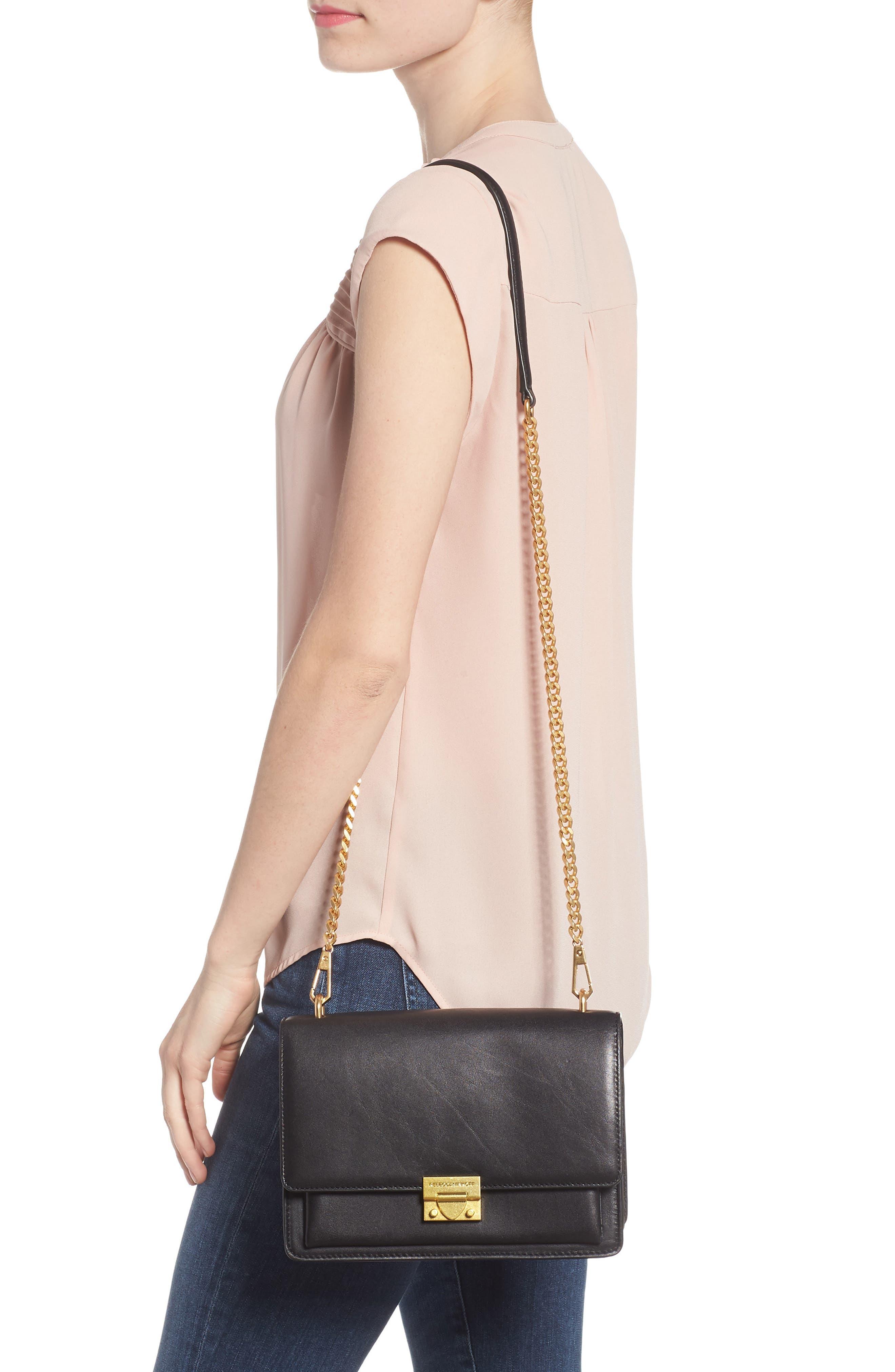Medium Christy Leather Shoulder Bag,                             Alternate thumbnail 2, color,                             001