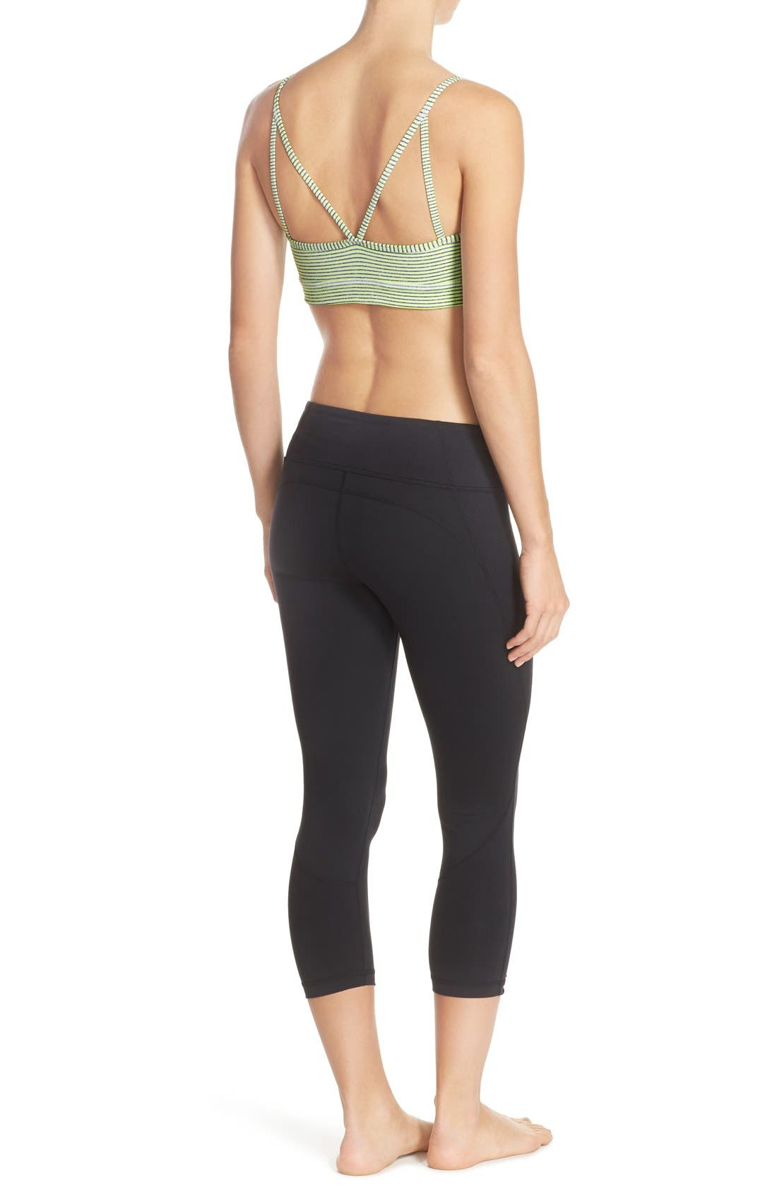 Live-In Keep It Cool Crop Leggings,                             Alternate thumbnail 8, color,                             001