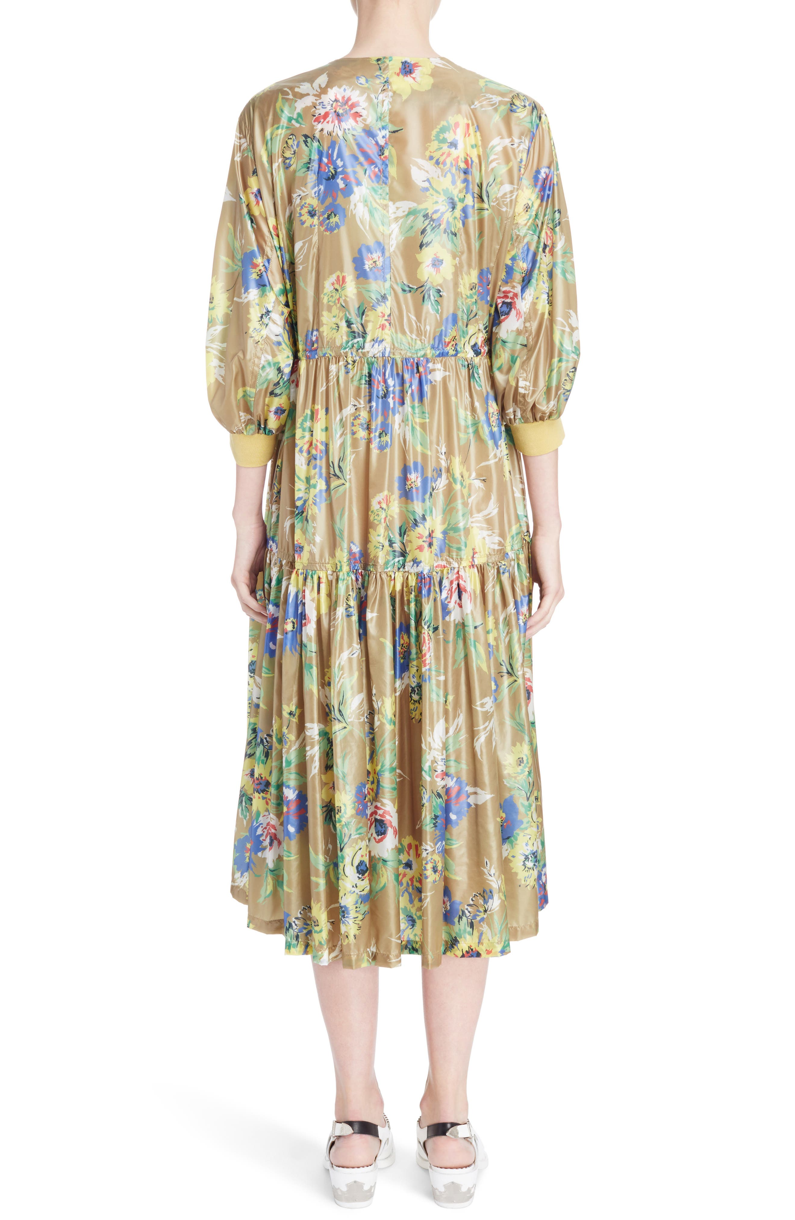 Floral Print Dress,                             Alternate thumbnail 2, color,                             700