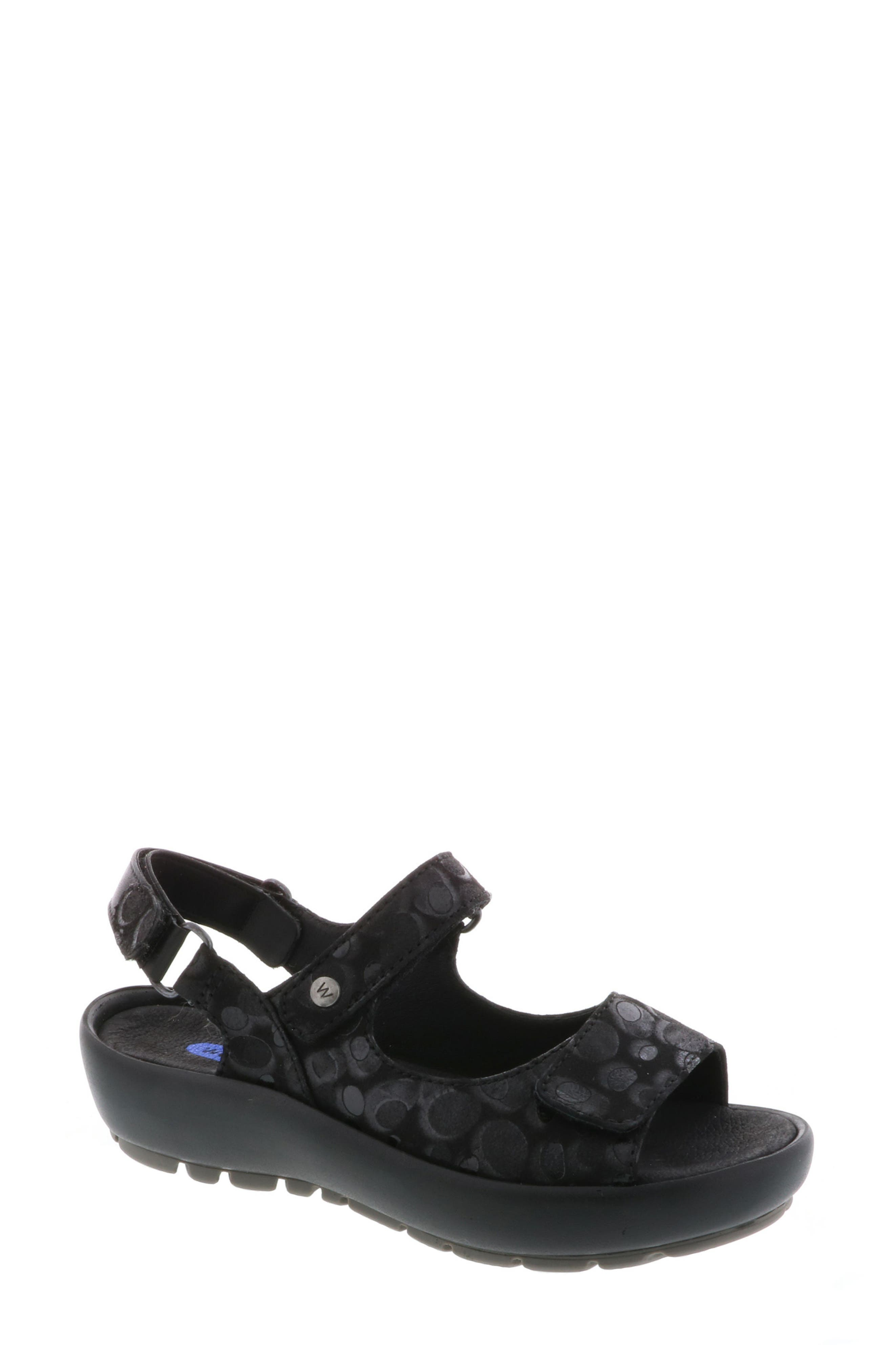 Rio Sandal,                             Main thumbnail 1, color,                             BLACK CIRCLE PRINT