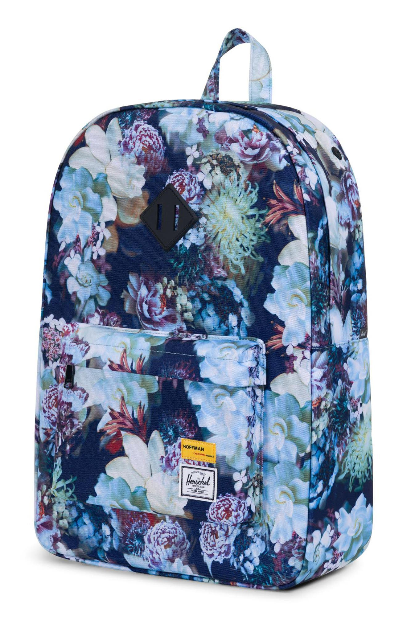 Heritage Hoffman Backpack,                             Alternate thumbnail 4, color,                             WINTER FLORAL