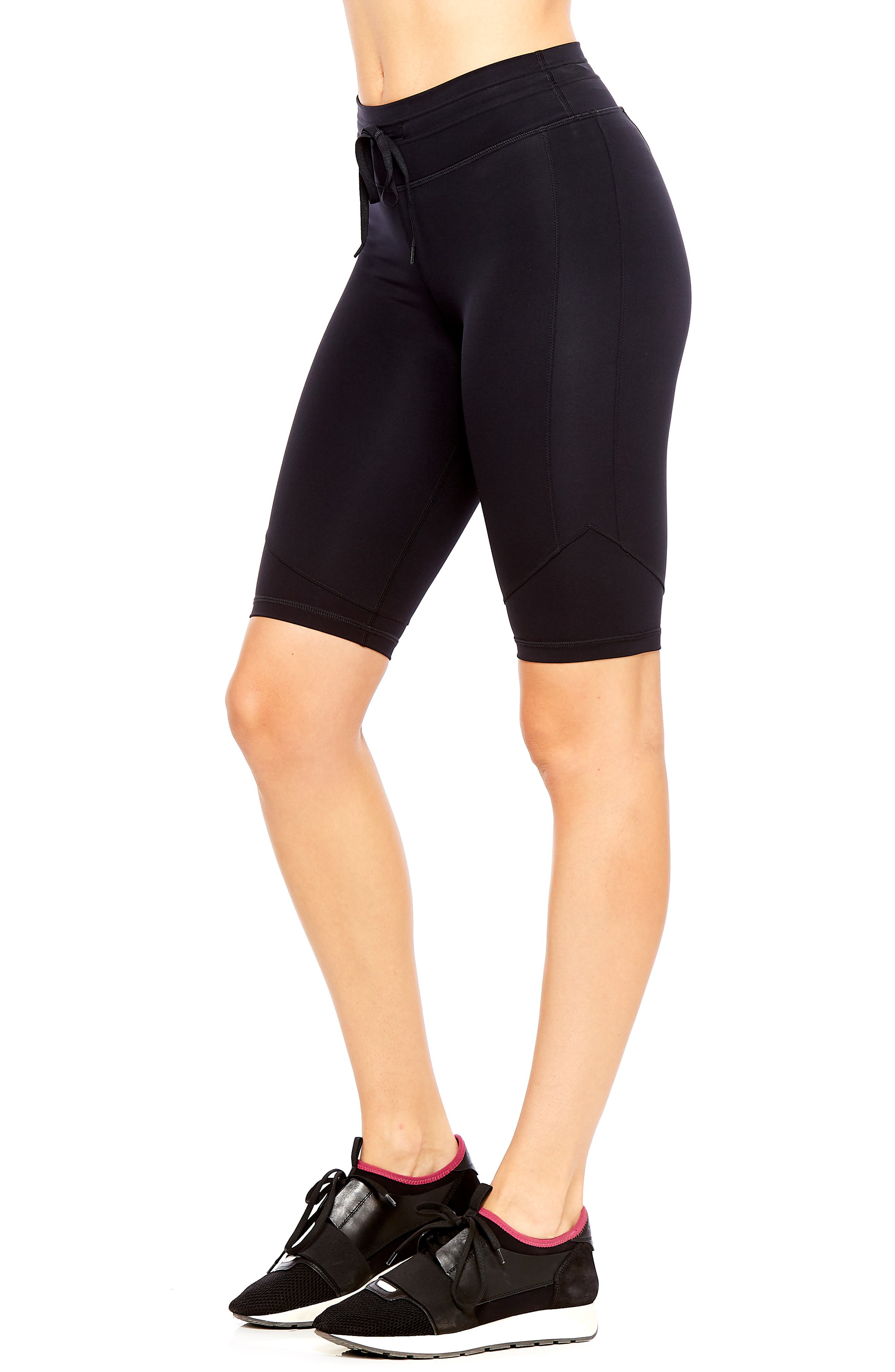 Matte Spin Biker Shorts,                             Alternate thumbnail 3, color,                             BLACK