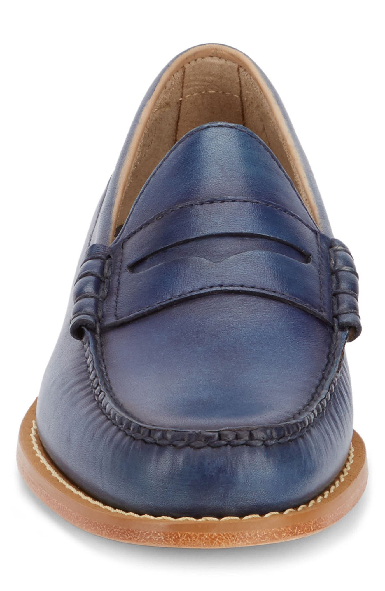 'Larson - Weejuns' Penny Loafer,                             Alternate thumbnail 4, color,                             NAVY/ NAVY LEATHER