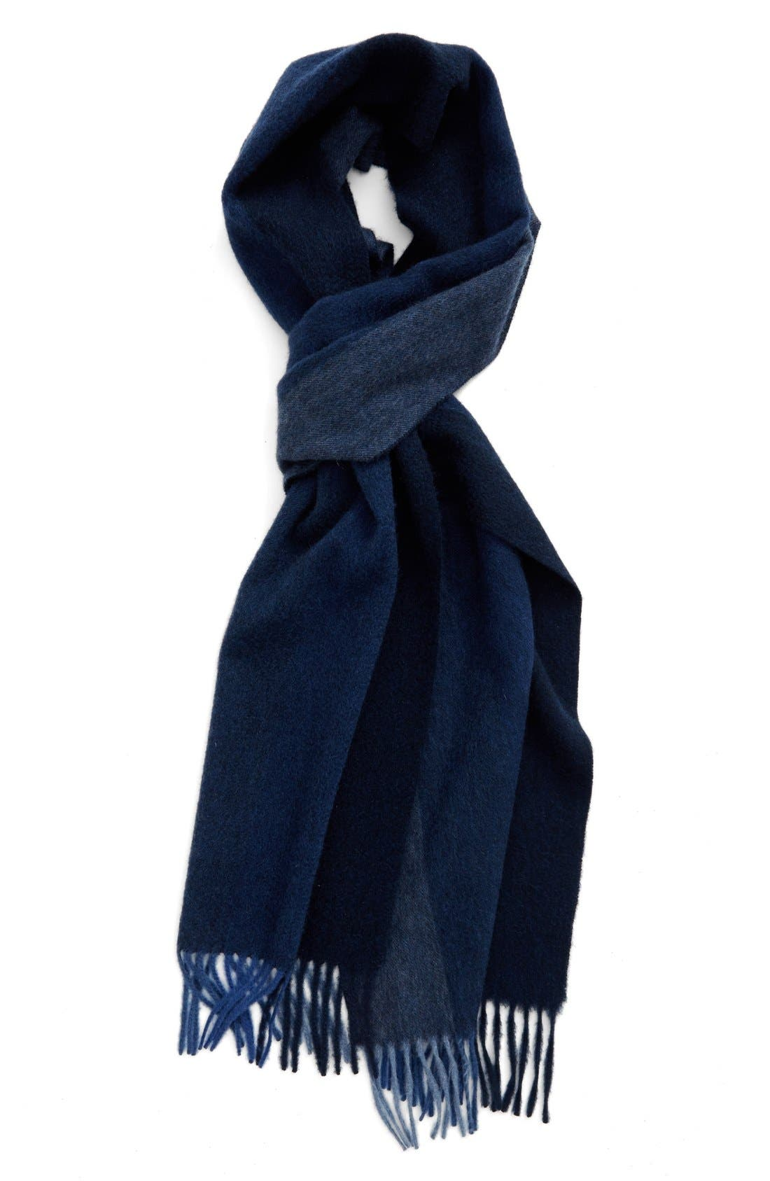 Nordstrom Vertical Degradé Stripe Cashmere Scarf,                             Main thumbnail 2, color,
