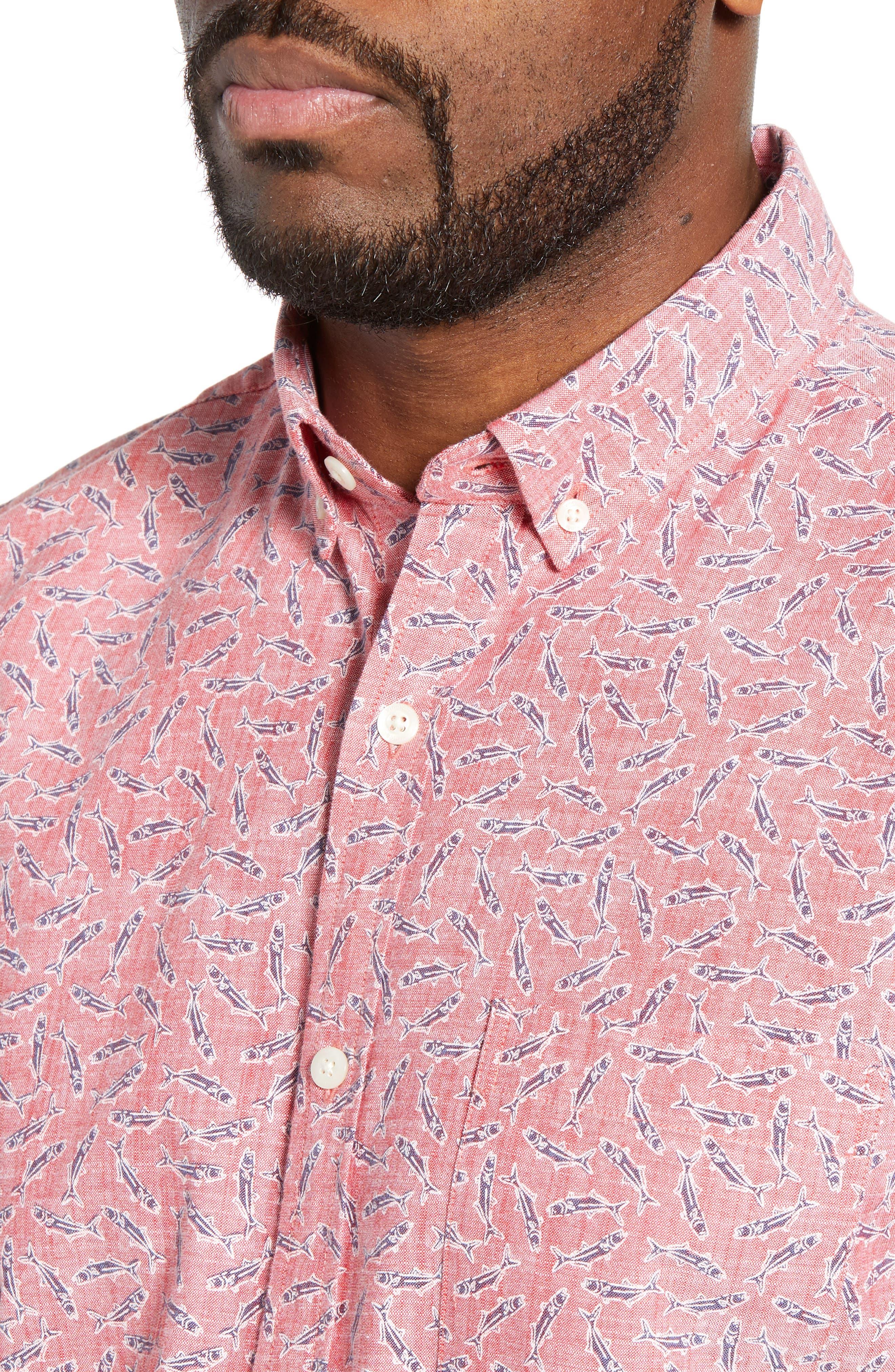 VINEYARD VINES,                             Murray Slim Fit Sport Shirt,                             Alternate thumbnail 2, color,                             LOBSTER REEF