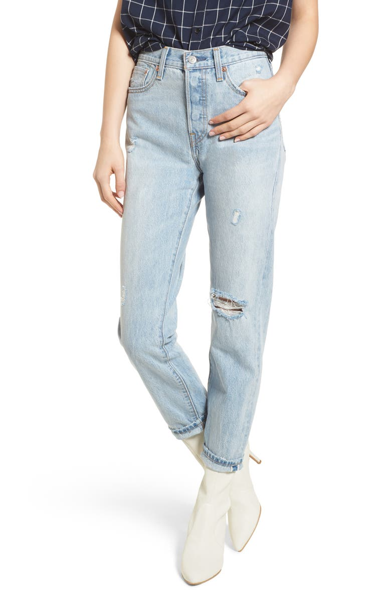 35c71309400 Levi s® Wedgie Icon Fit Ripped High Waist Ankle Jeans (Desert Delta ...