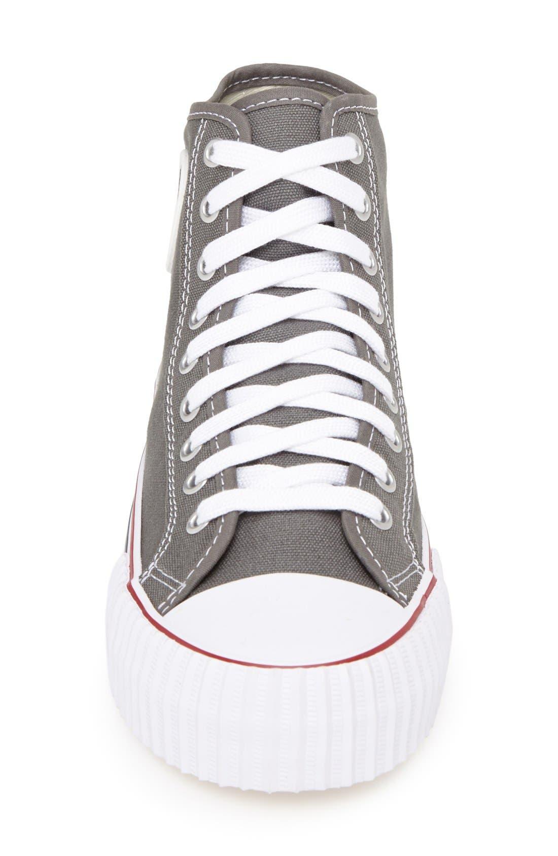 'Center Hi' Canvas Sneaker,                             Alternate thumbnail 3, color,                             030