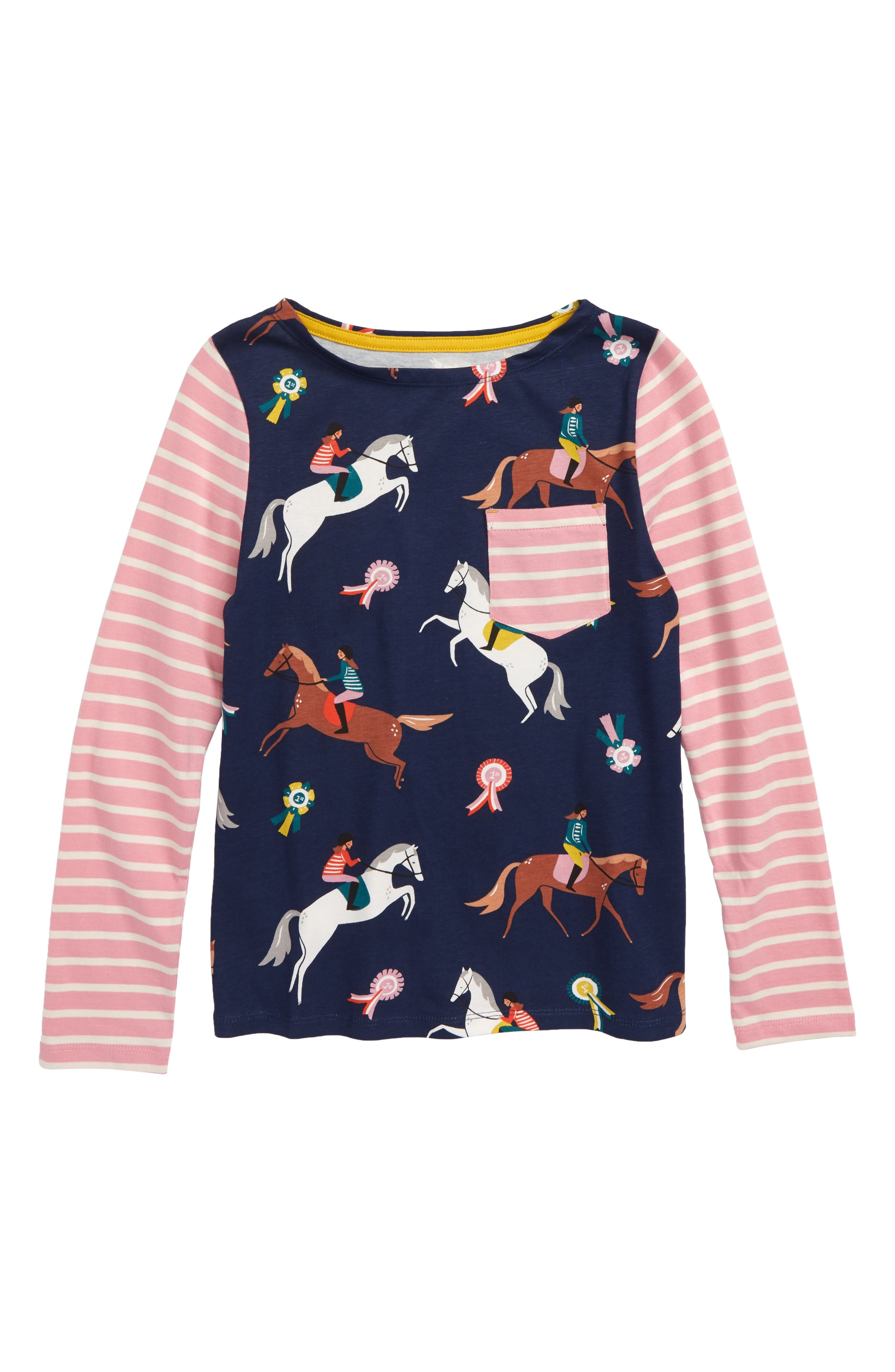 Hotchpotch T-Shirt,                         Main,                         color, SCHOOL NAVY JUMPING PONIES