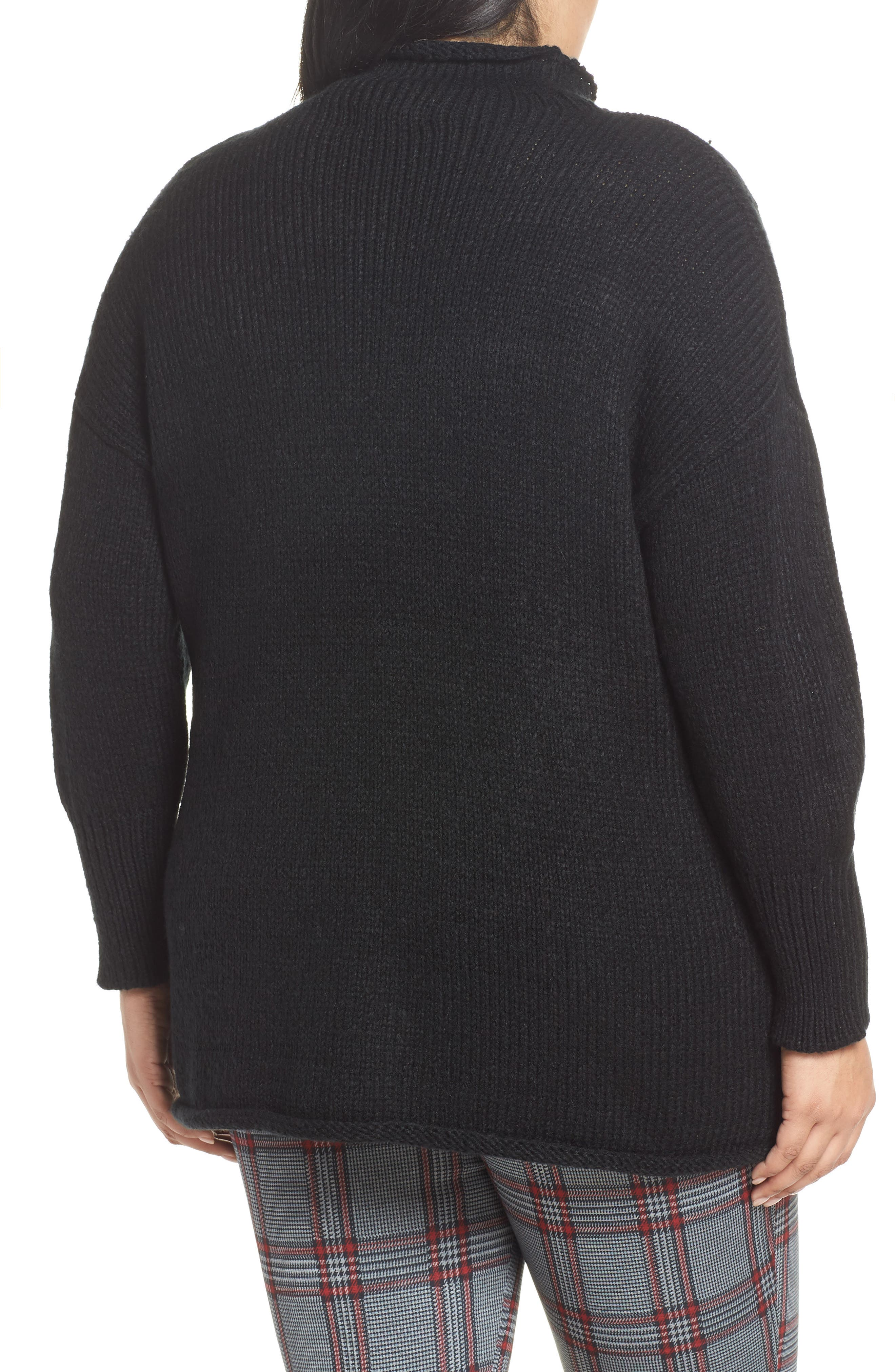 Supersized Curl Up Sweater,                             Alternate thumbnail 2, color,                             001