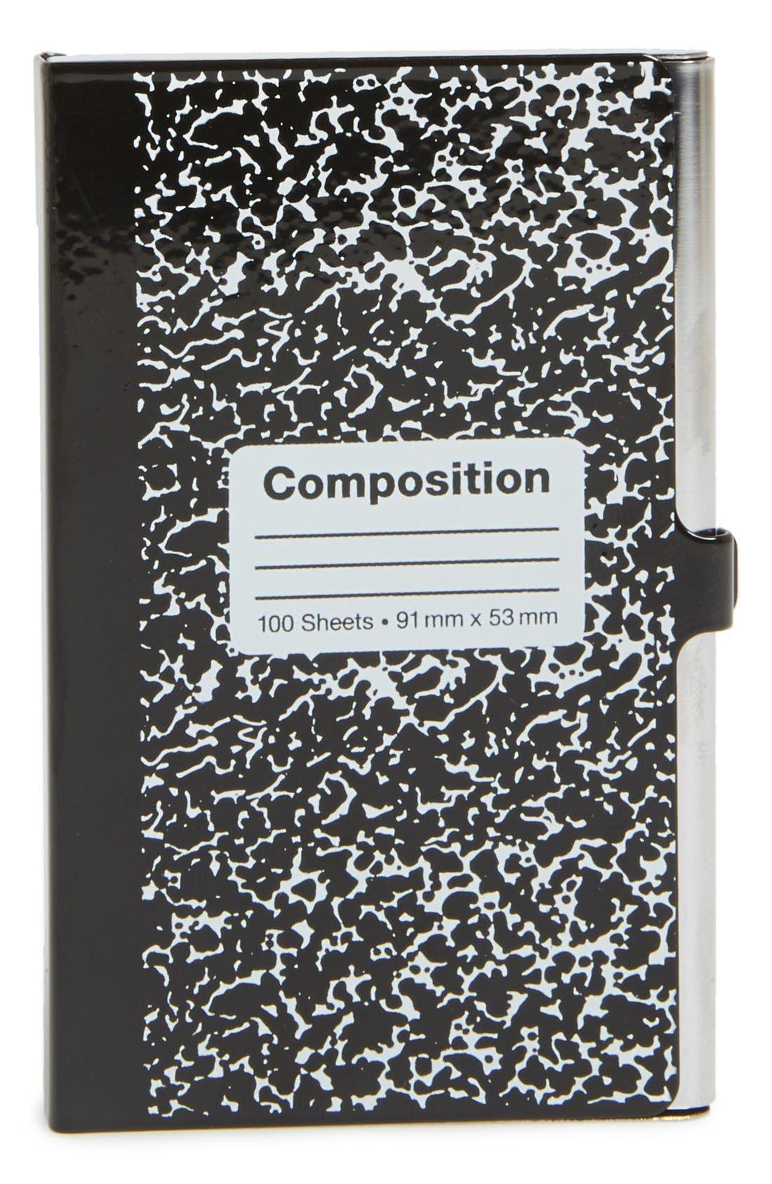 DESIGN IDEAS,                             'Composition Notebook' Identity Case,                             Main thumbnail 1, color,                             001