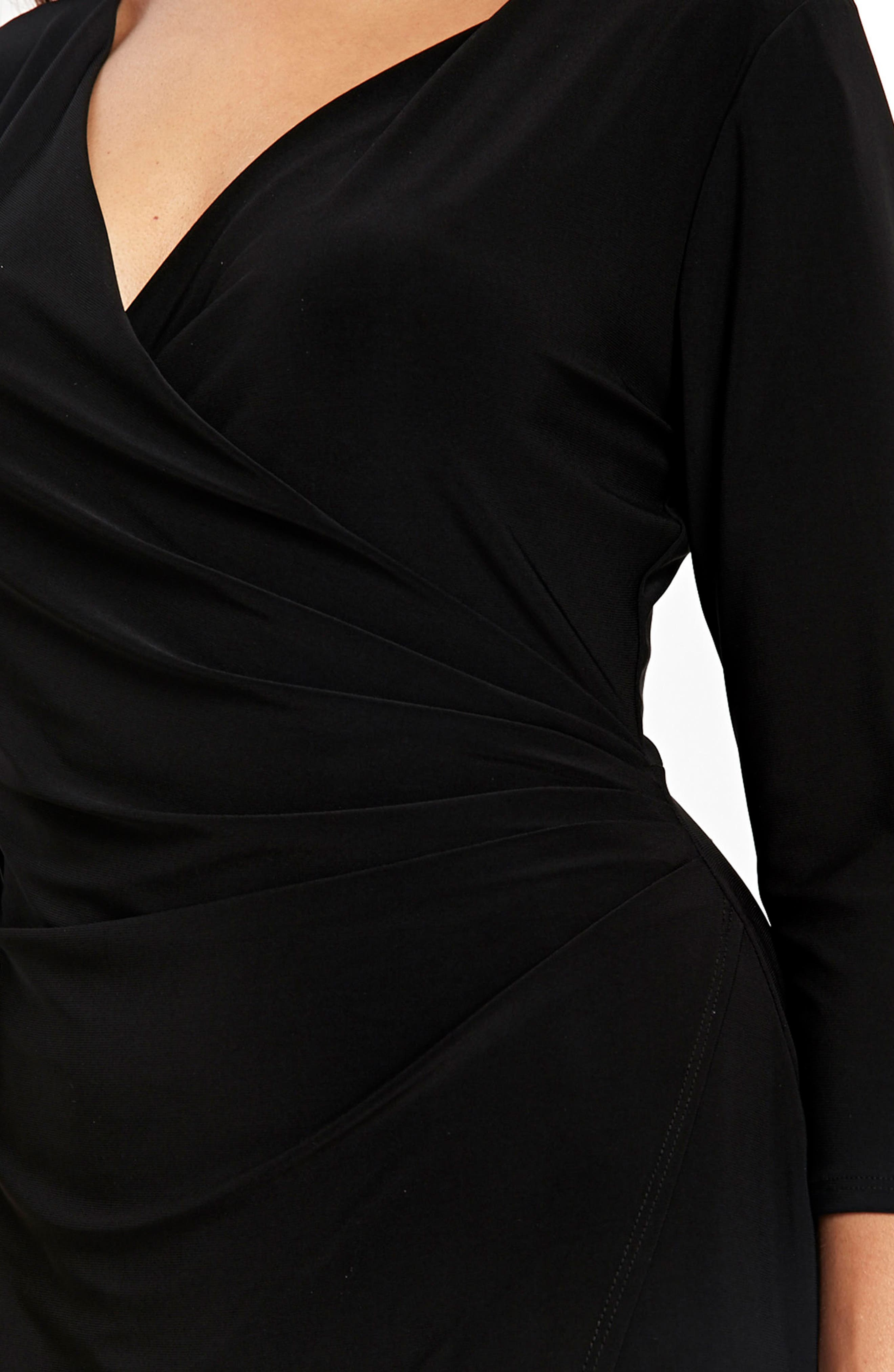 Ity Wrap Dress,                             Alternate thumbnail 3, color,                             001