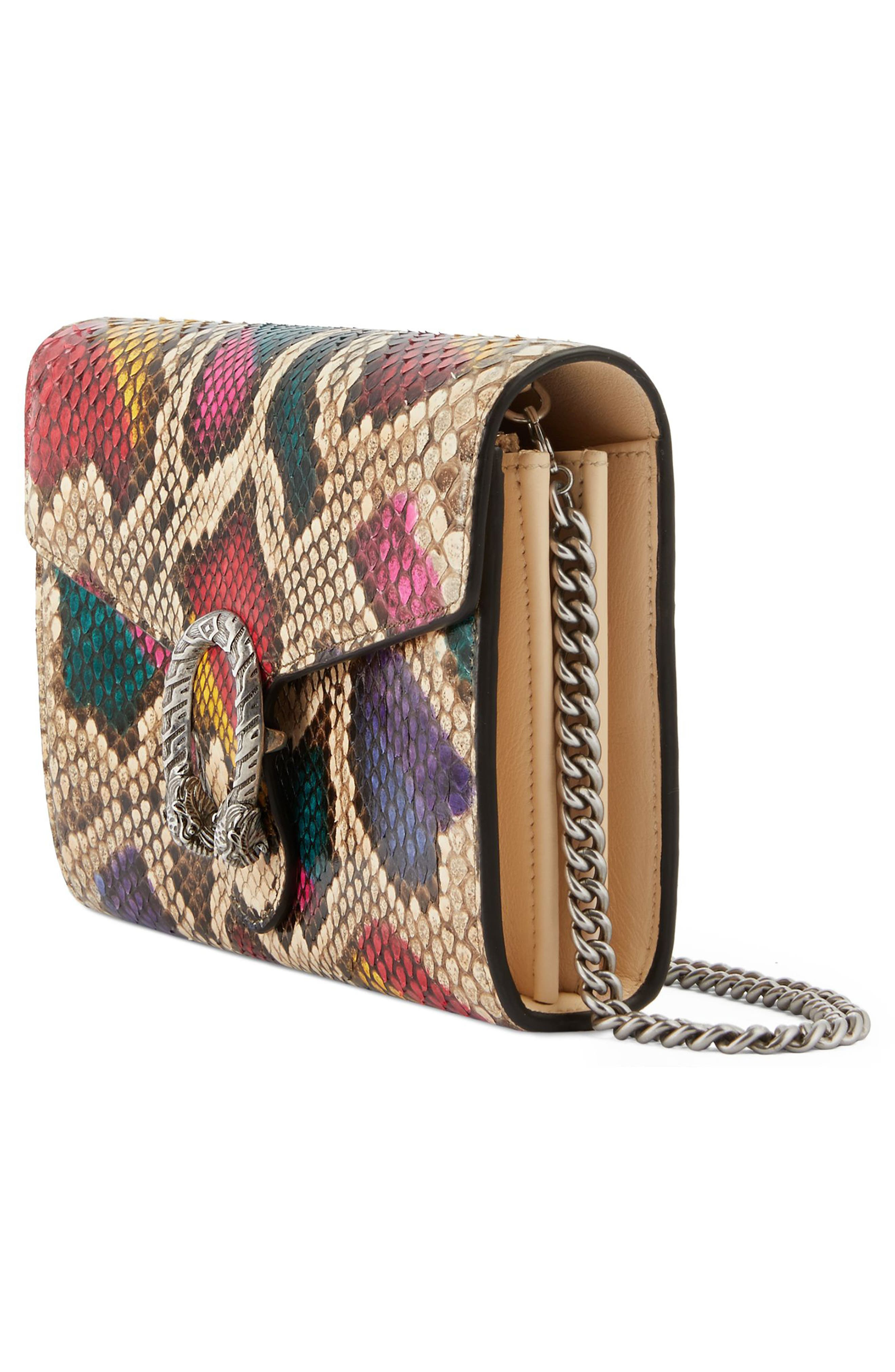 Dionysus Genuine Python Clutch,                             Alternate thumbnail 4, color,                             250