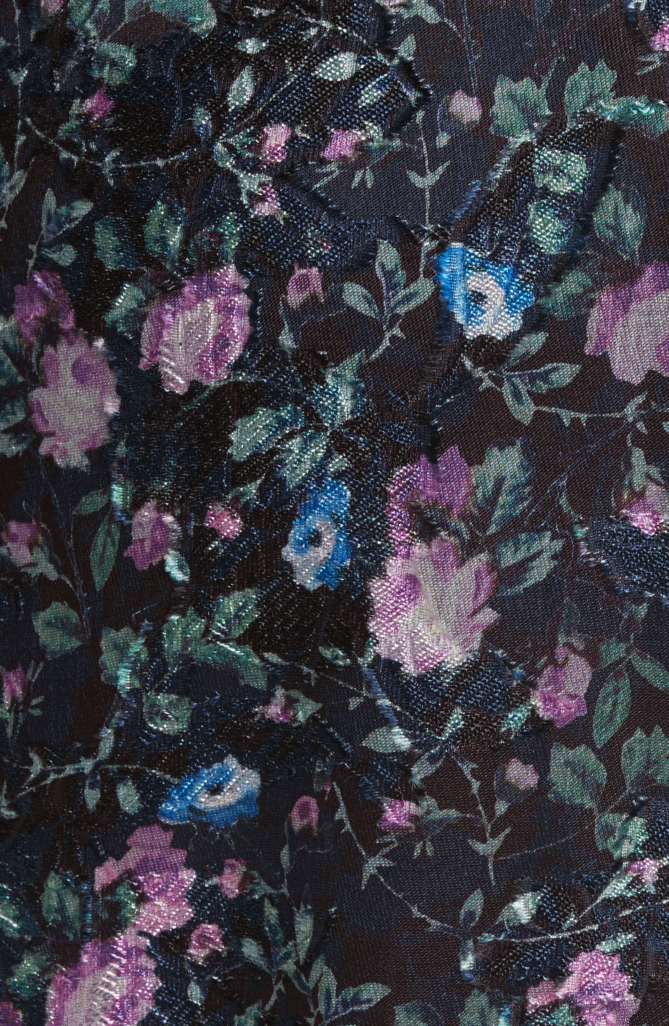 Ruby Organza Midi Dress,                             Alternate thumbnail 5, color,                             497