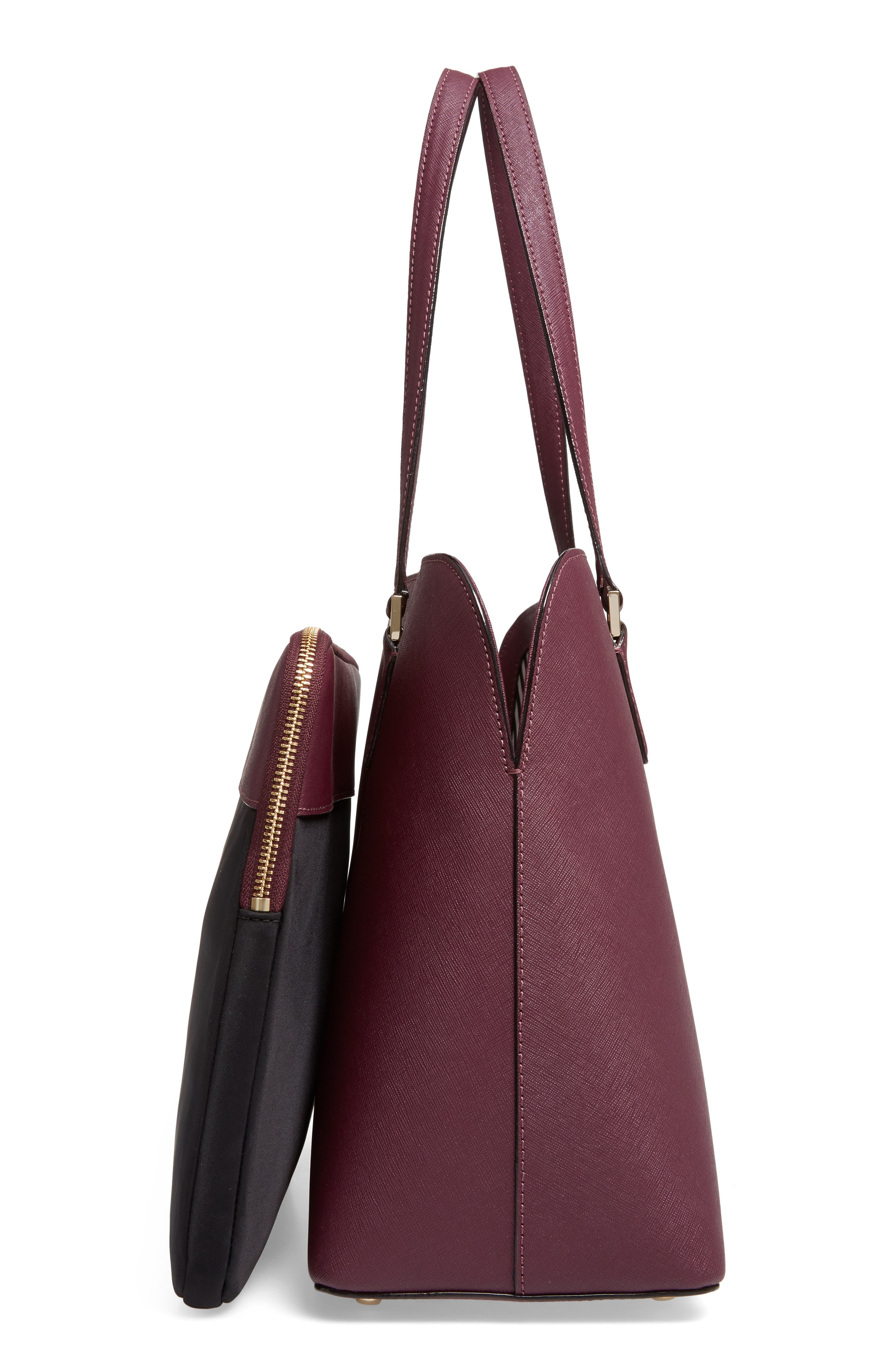 cameron street - marybeth leather tote,                             Alternate thumbnail 5, color,                             513