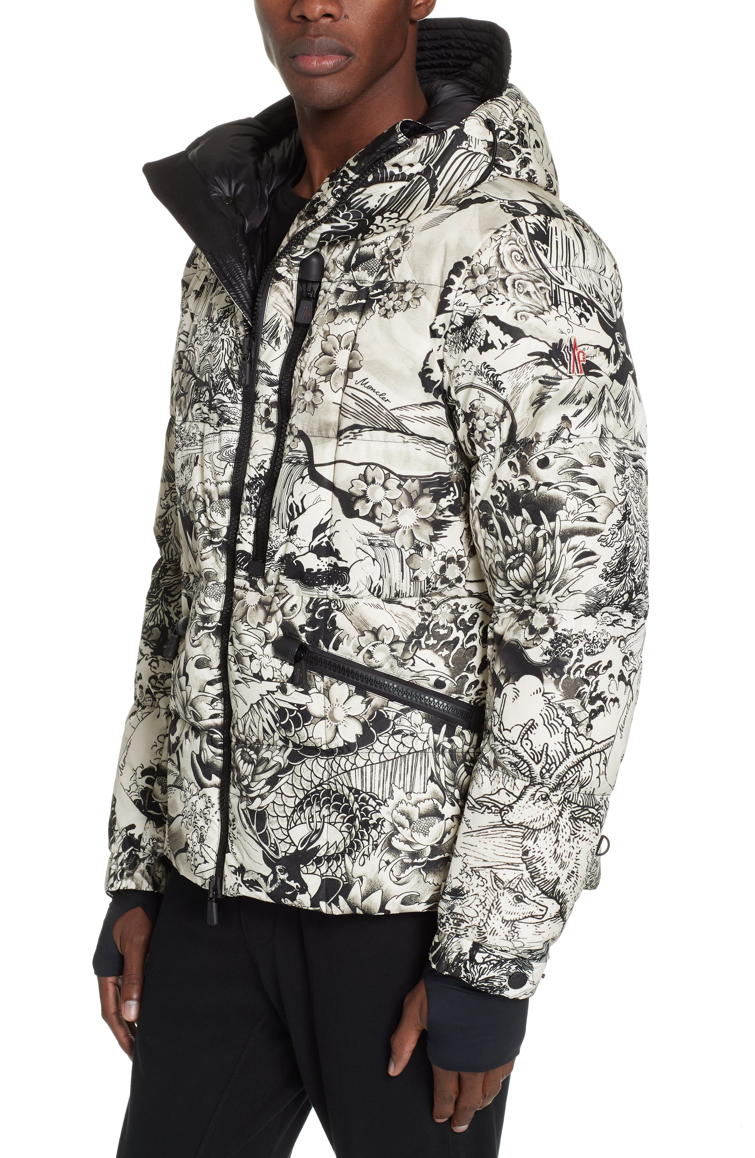 Moncler Coulmes Tattoo Down Puffer Jacket, Black
