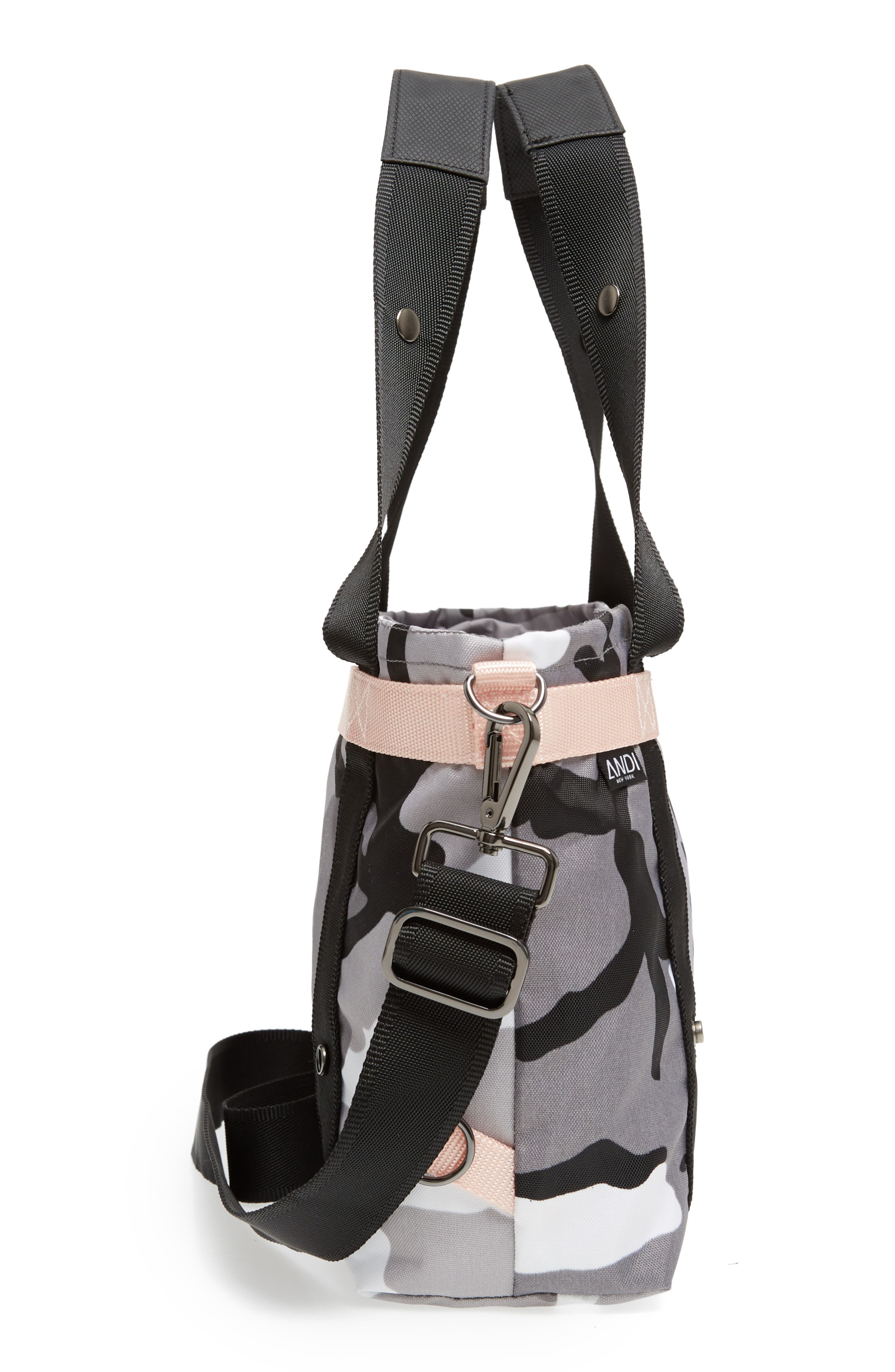 The ANDI Small Convertible Tote,                             Alternate thumbnail 6, color,                             BLACK/ WHITE/ GRAY/ PINK