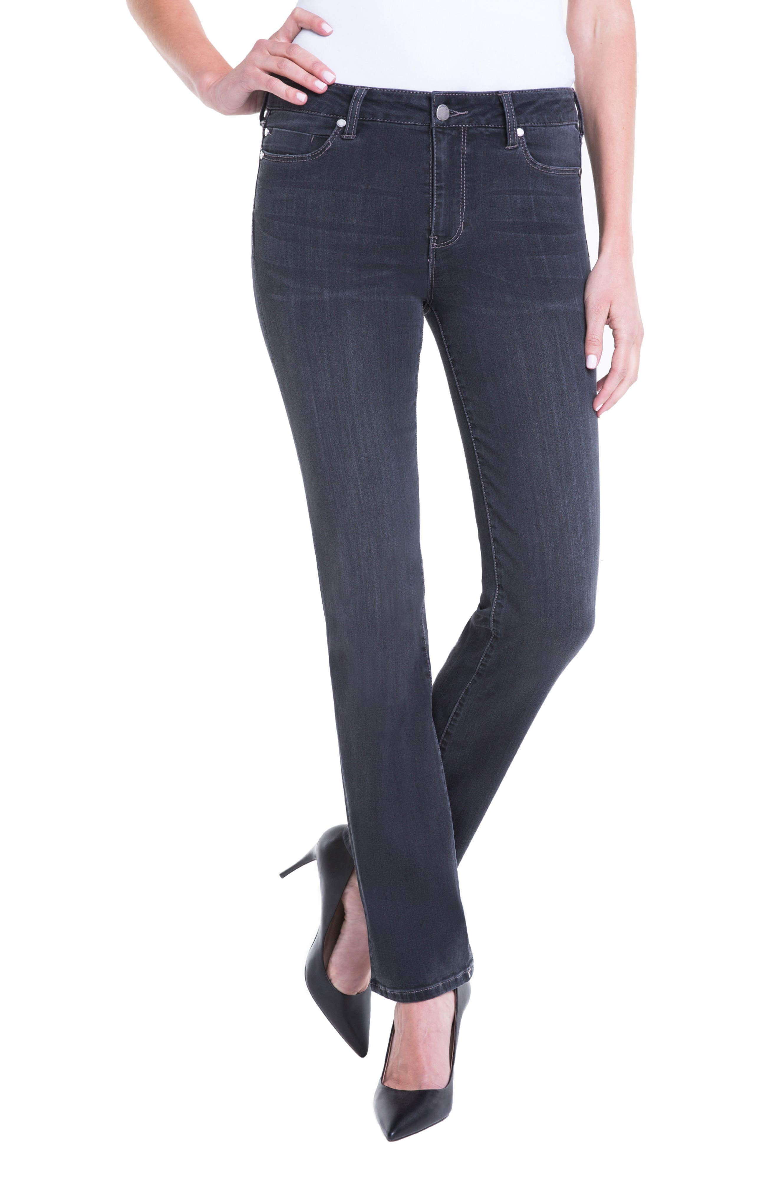 Sadie Straight Jeans,                         Main,                         color, METEORITE