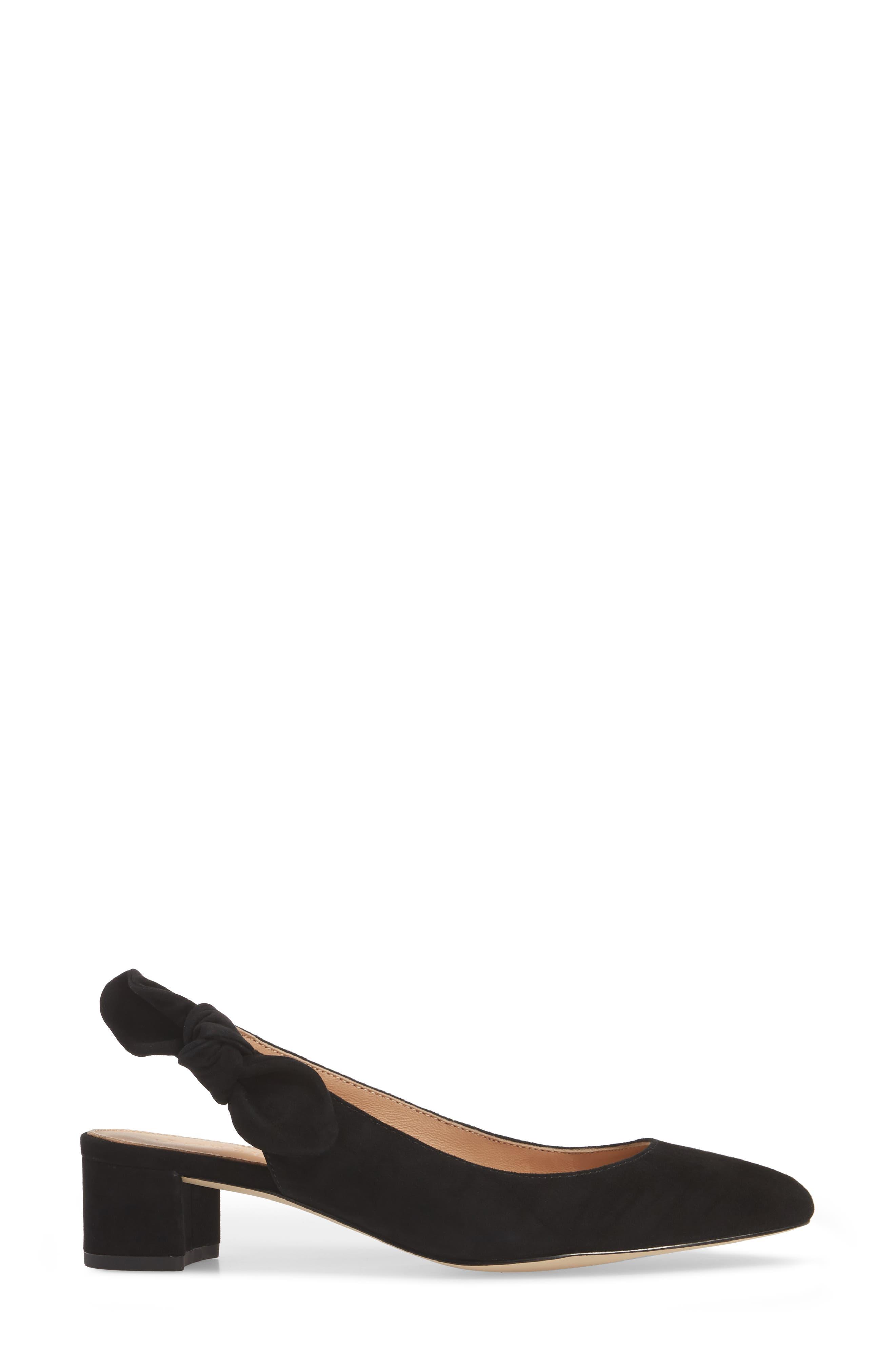 Slingback Bow Pump,                             Alternate thumbnail 3, color,                             001