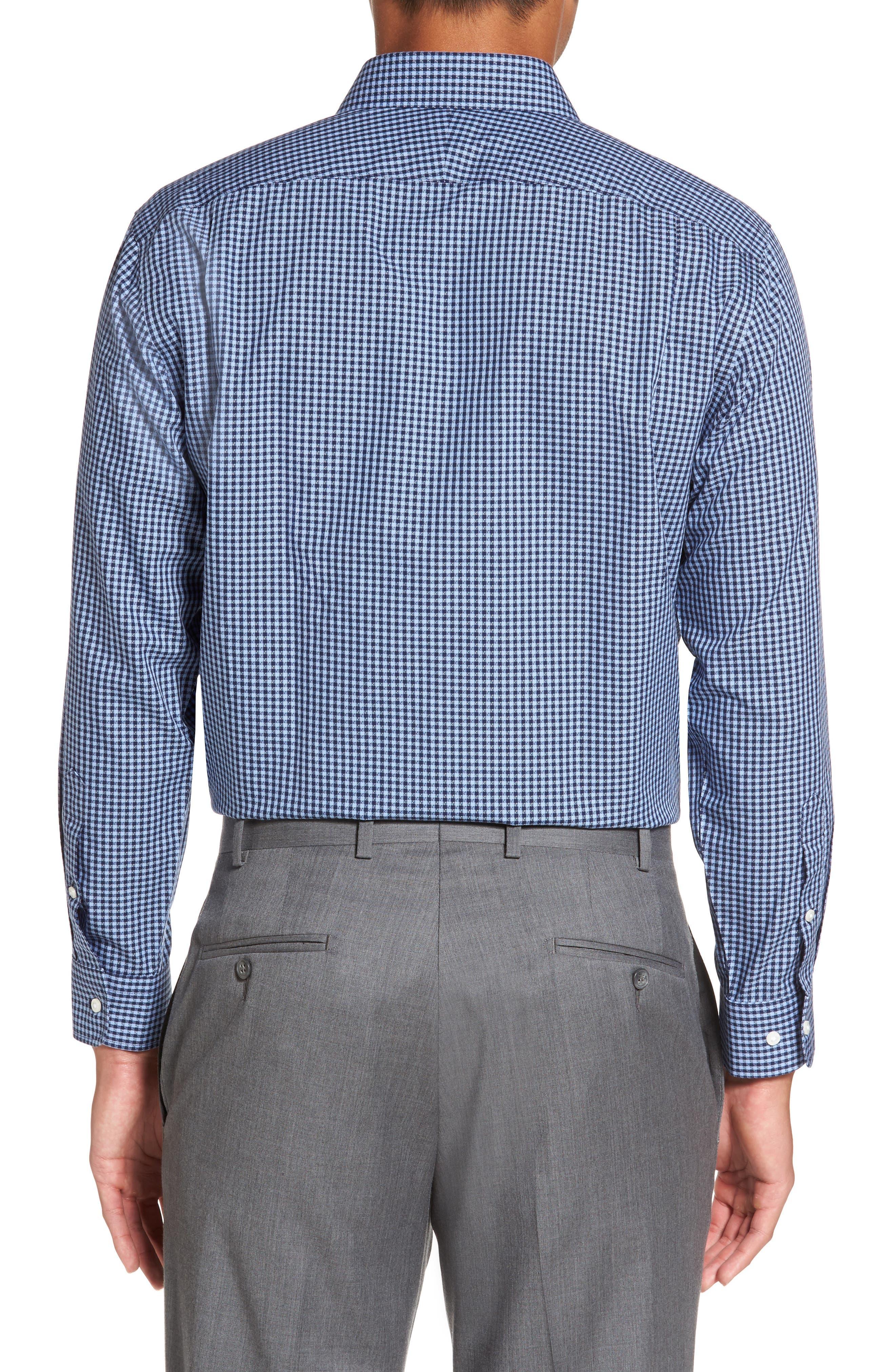 Smartcare<sup>™</sup> Trim Fit Check Dress Shirt,                             Alternate thumbnail 2, color,