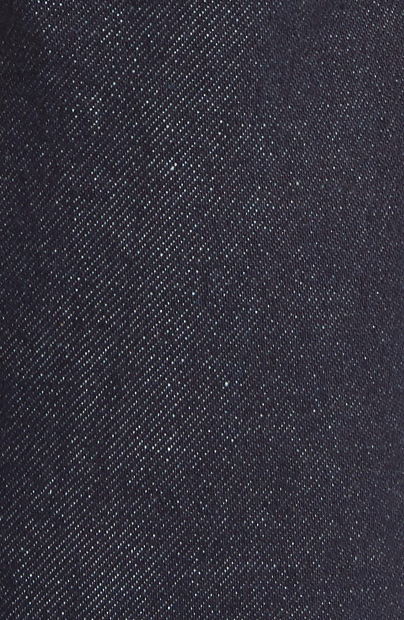 Fit 1 Skinny Fit Jeans,                             Alternate thumbnail 5, color,                             INDIGO RINSE SELVEDGE