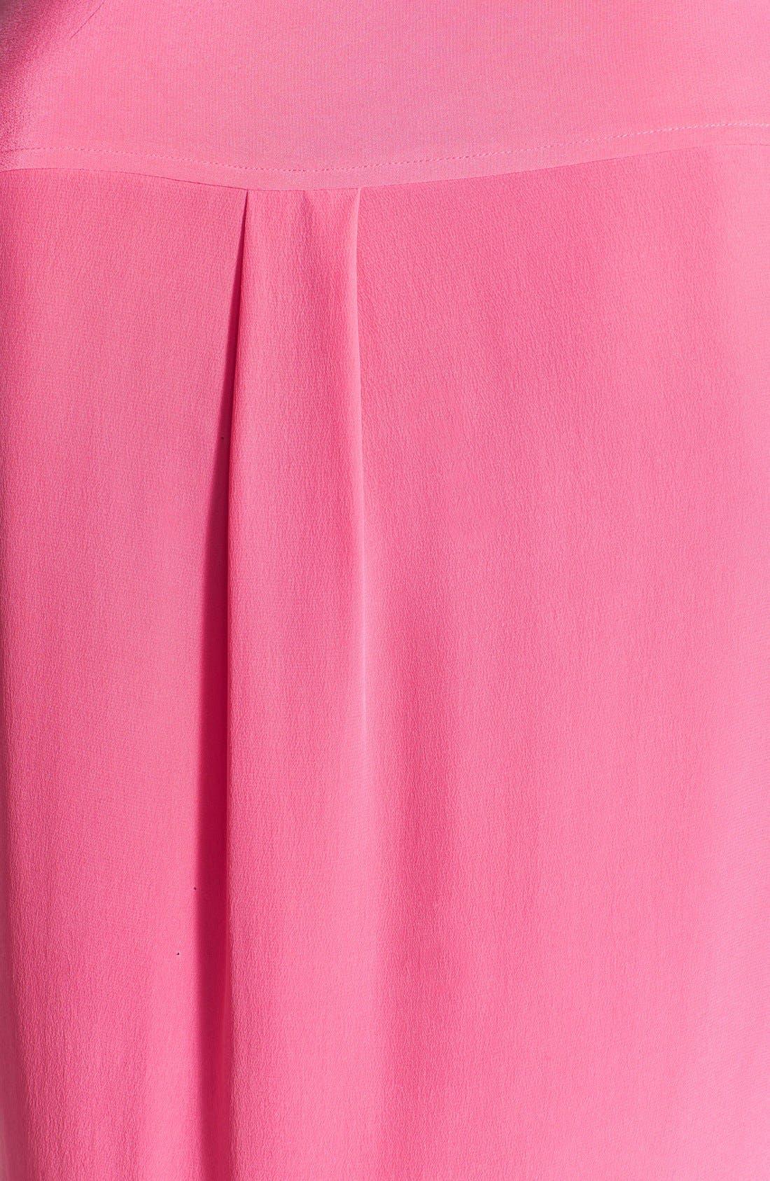 'Slim Signature' Sleeveless Silk Shirt,                             Alternate thumbnail 87, color,